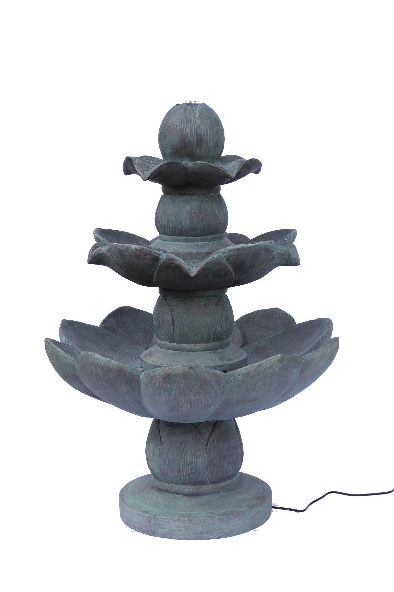3 Tiered Lotus Leaf Fountain