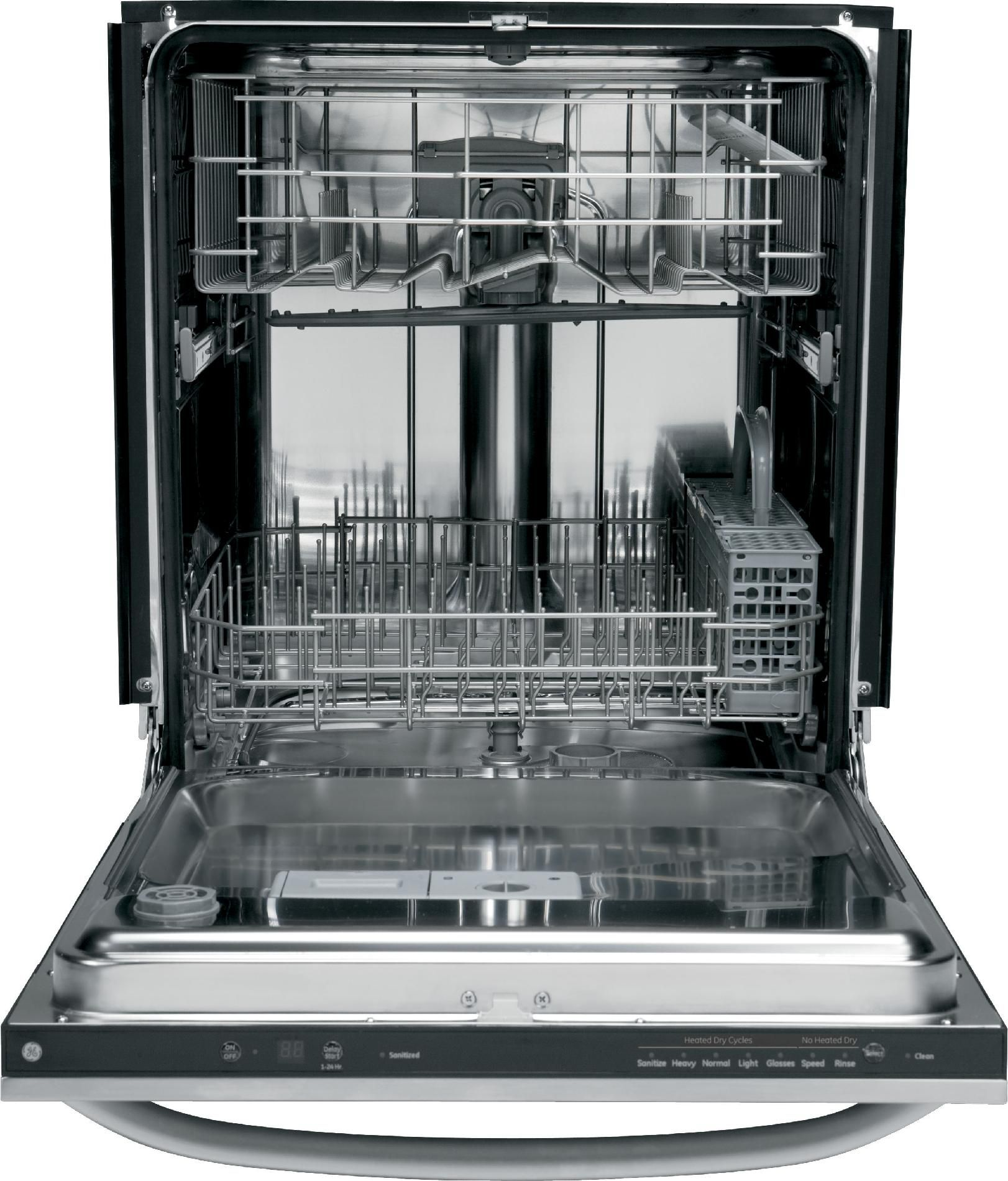 "GE 24"" Built-In Dishwasher - Stainless Steel"