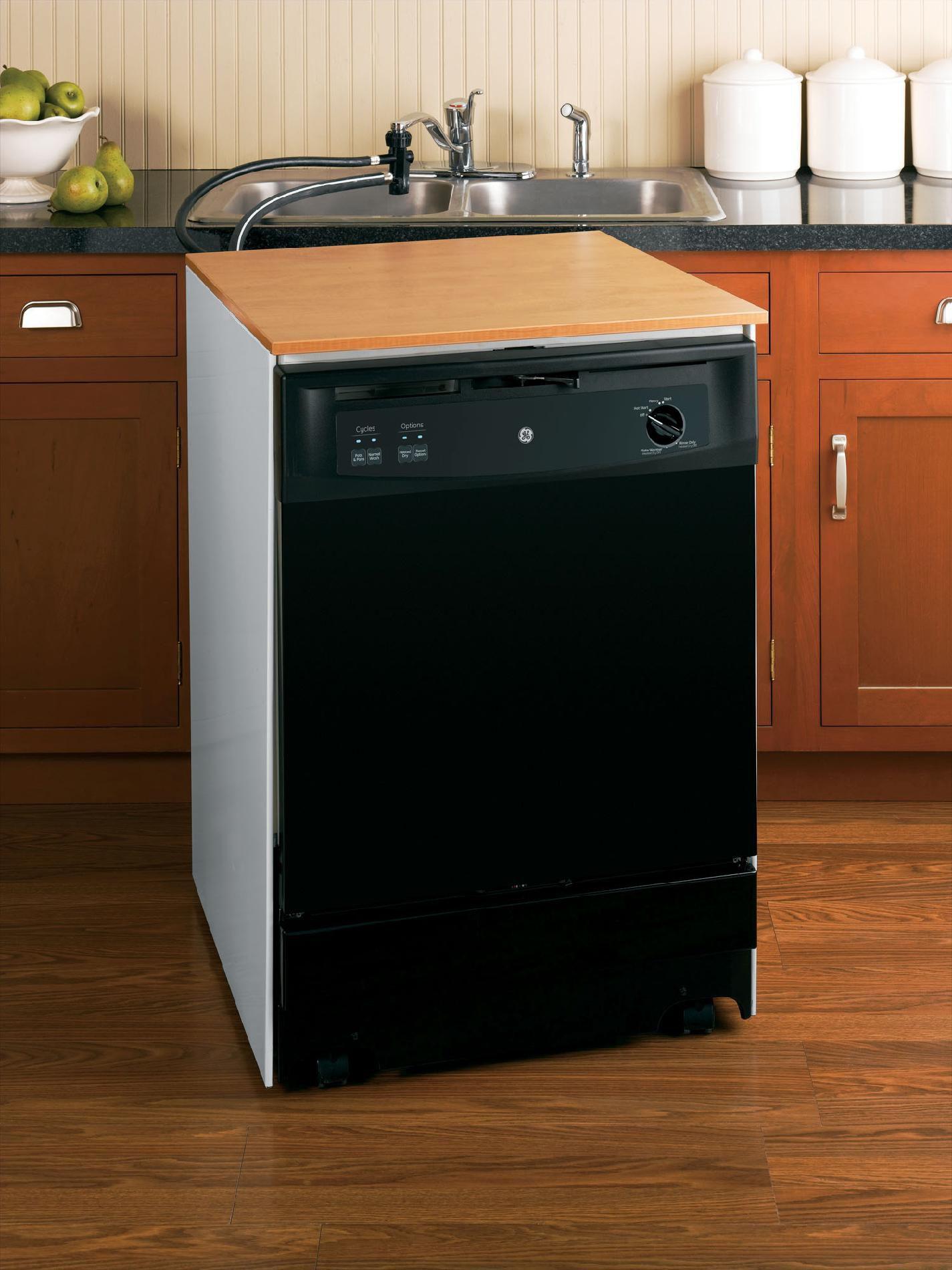 "GE 24"" Portable Dishwasher - Black"