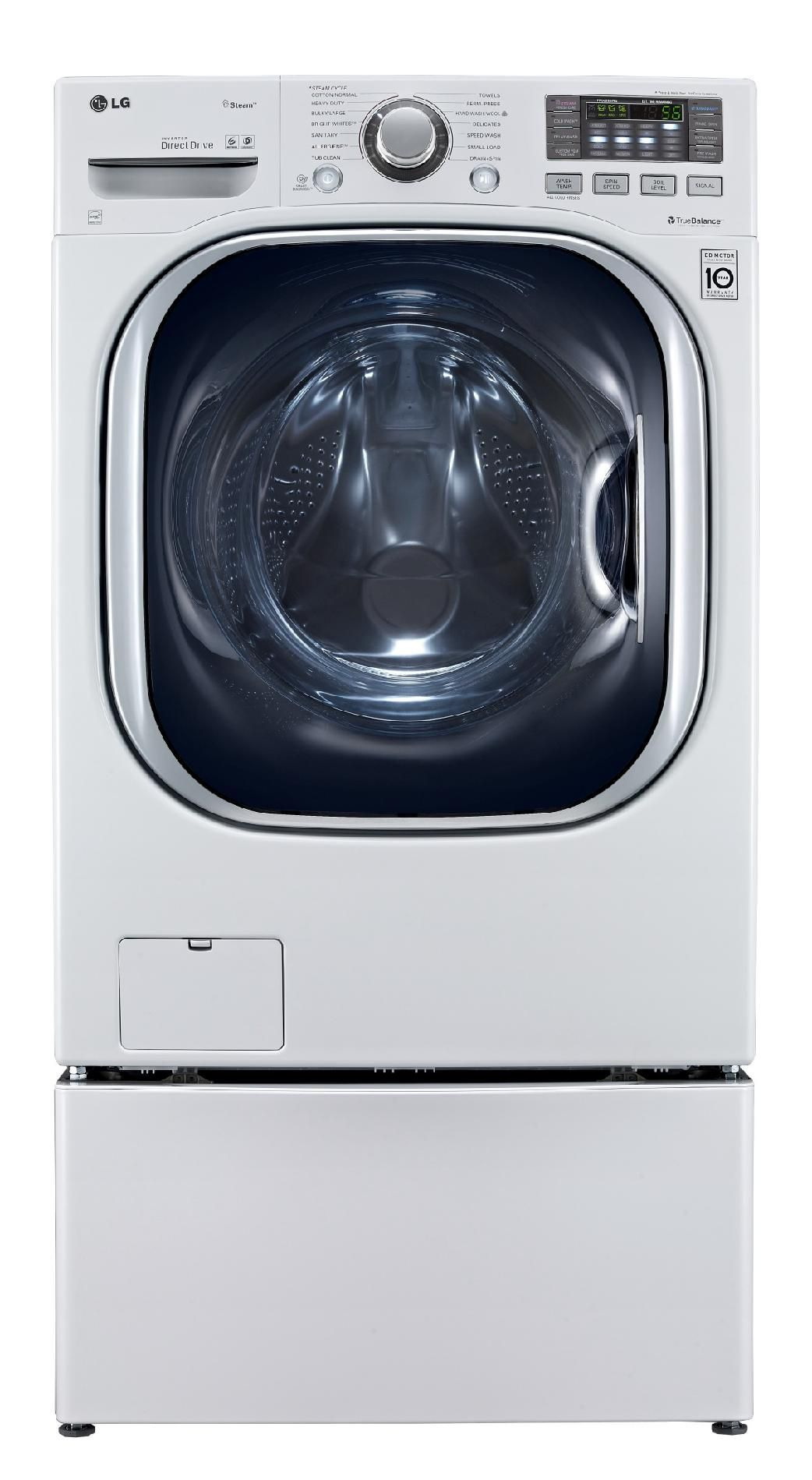 LG 4.3 cu. ft. Steam Front-Load Washer w/TurboWash™ - White