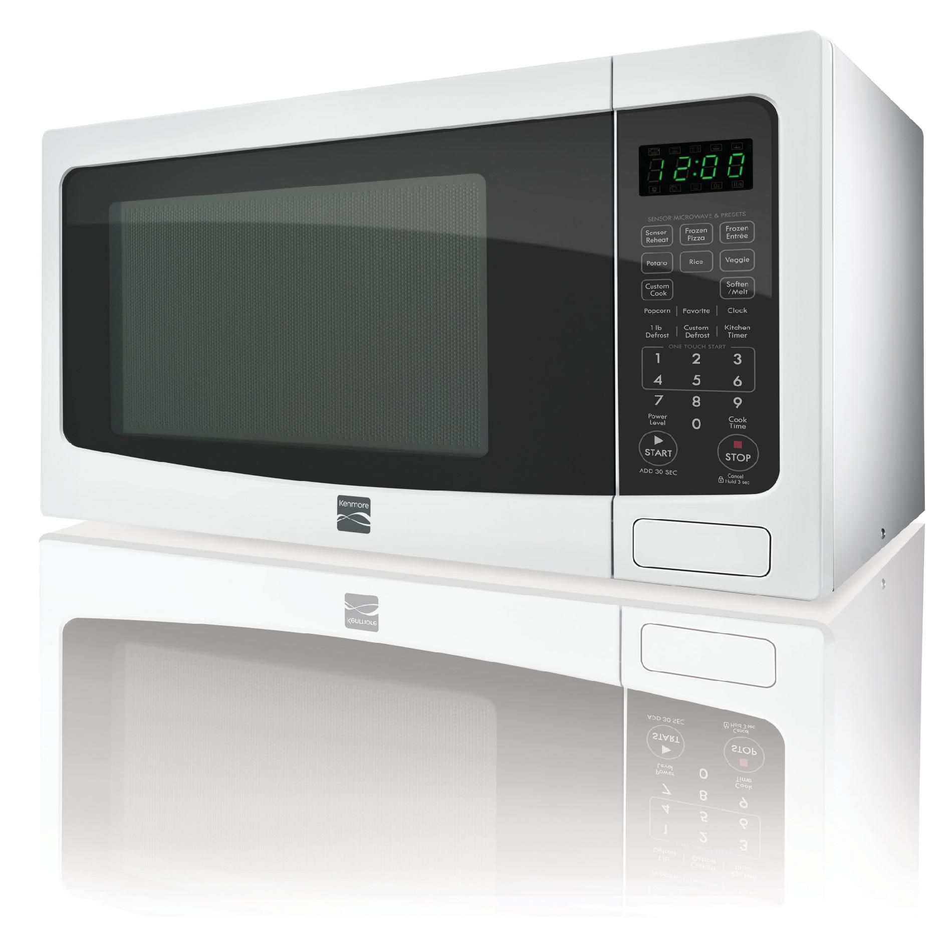 Kenmore 1.2  cu. ft. Countertop Microwave w/ EZ Clean Interior - White