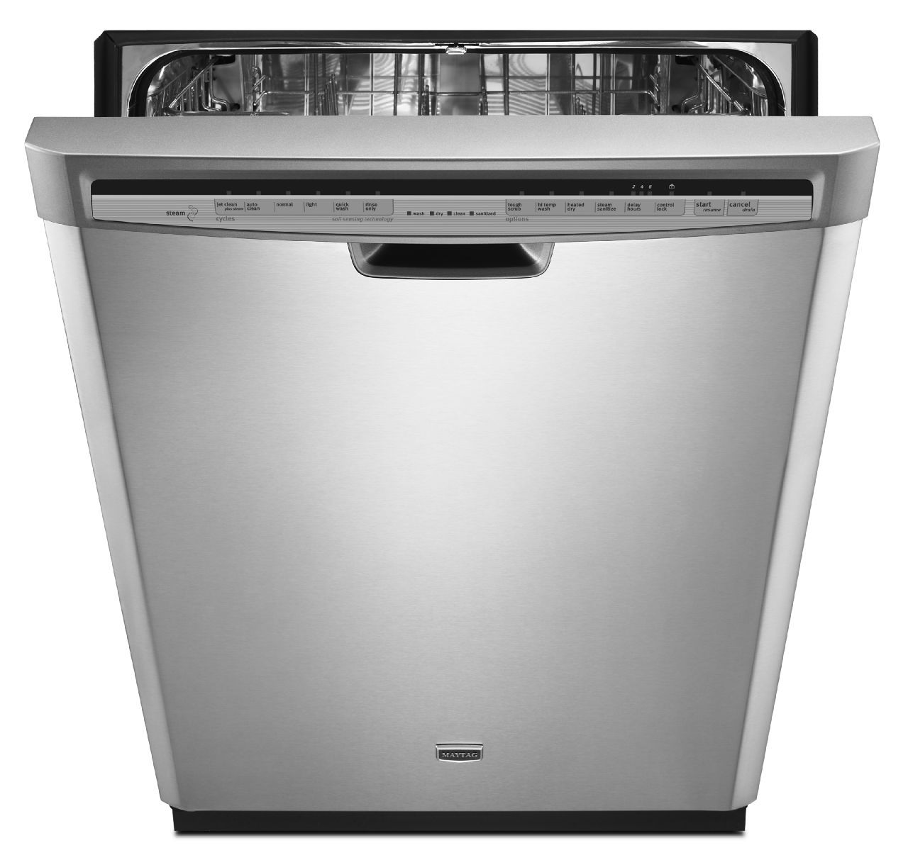"Maytag 24"" Jetclean® Plus Dishwasher w/ Stainless Steel Tub - Stainless Steel"