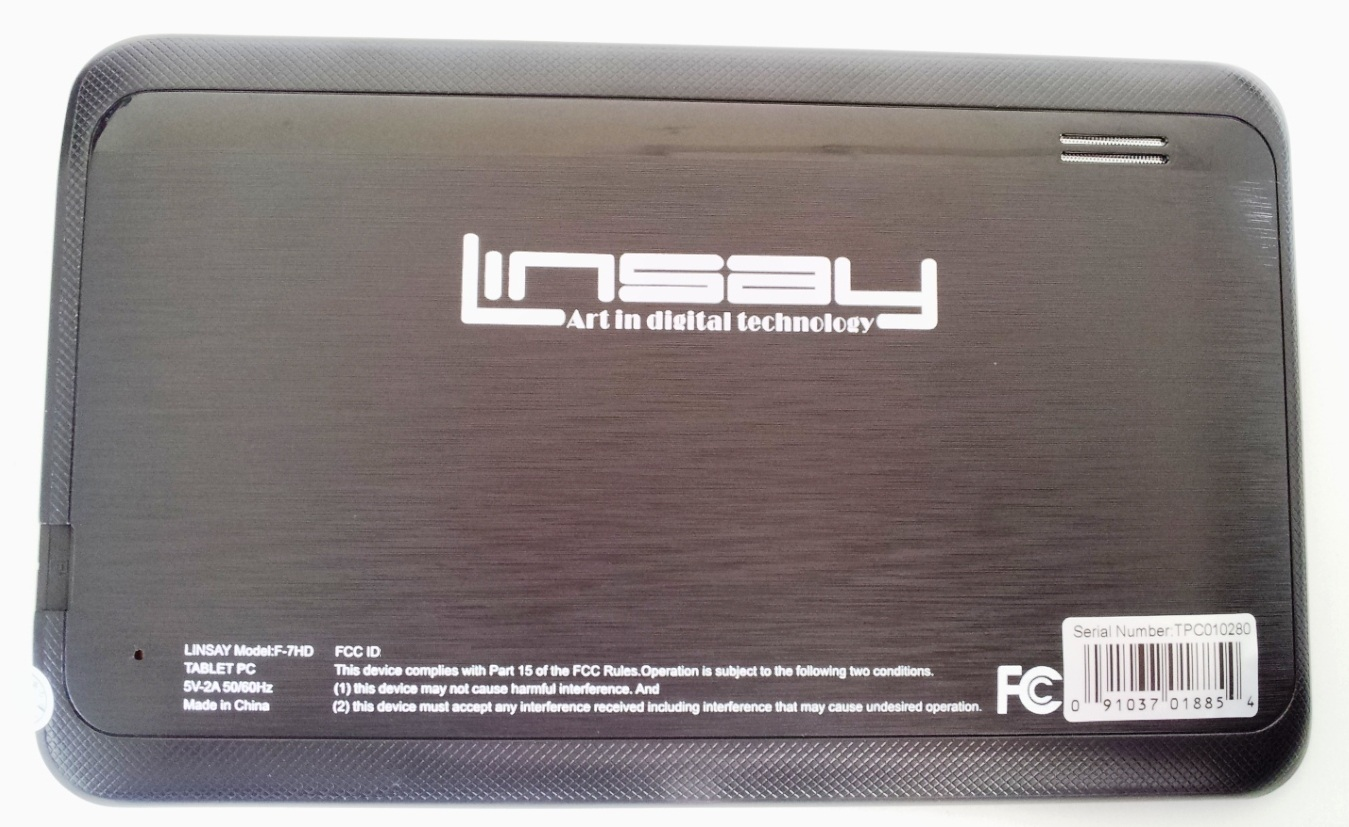 """LINSAY 7"""" Tablet w/ Google Android Jelly Bean 4.1"""