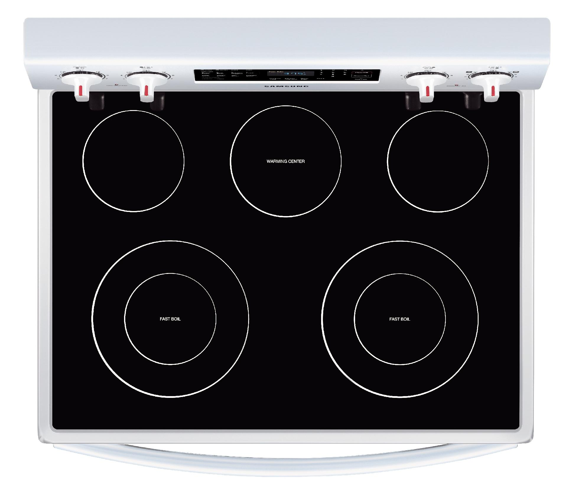 Samsung 5.9 cu. ft. Electric Range w/Convection - White