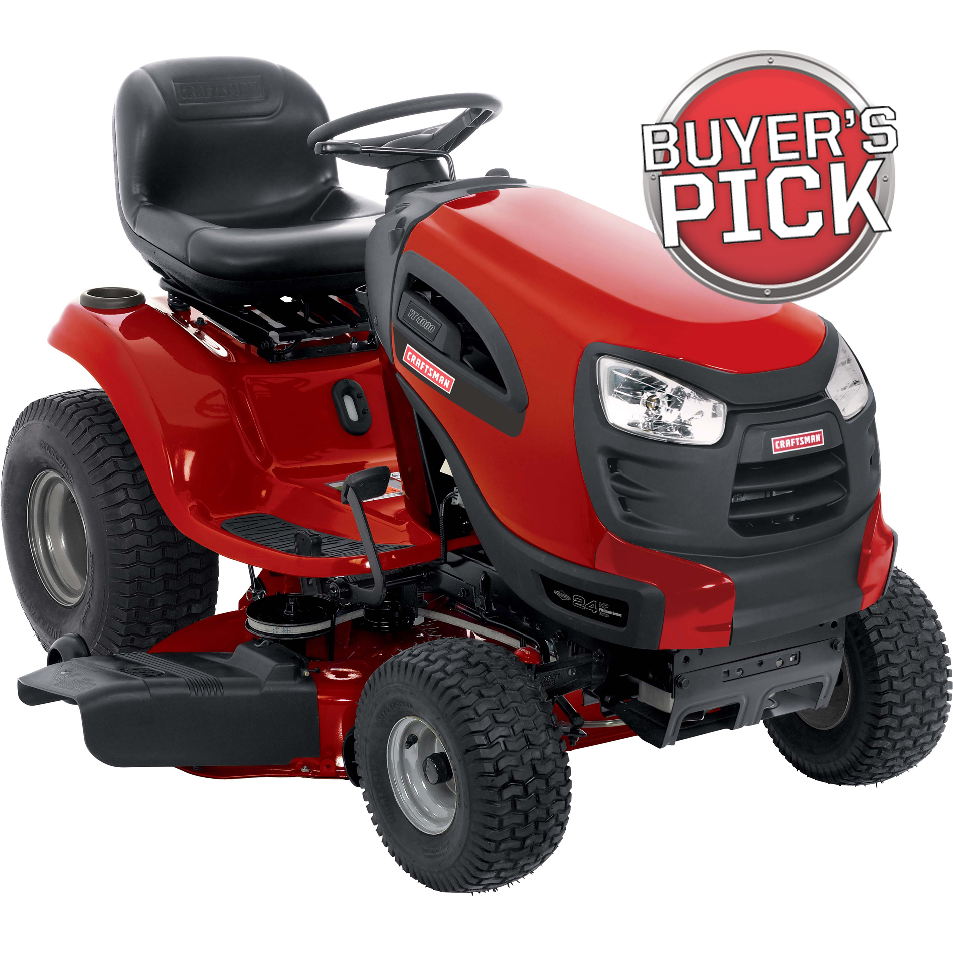 "Craftsman 42"" 24hp V-Twin Briggs & Stratton Turn Tight™ Hydrostatic Yard Tractor CA Only"