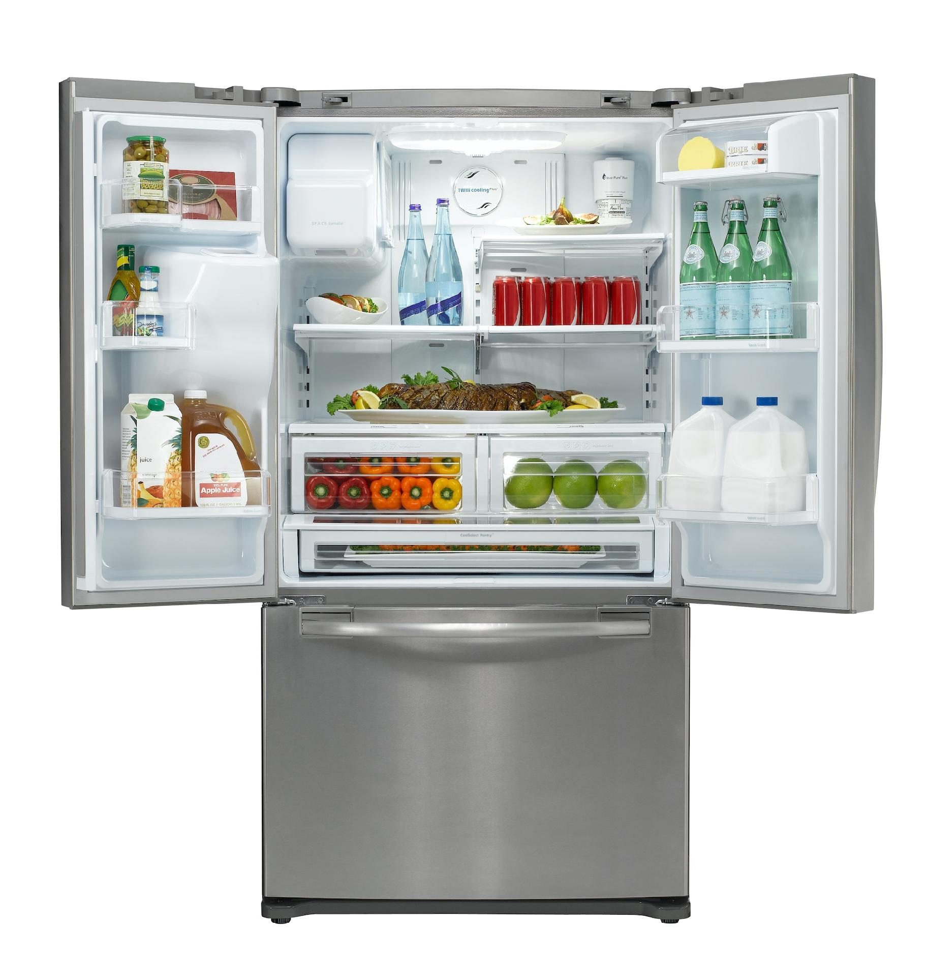 Samsung 23 cu. ft. Counter-Depth French Door Refrigerator - Stainless Steel