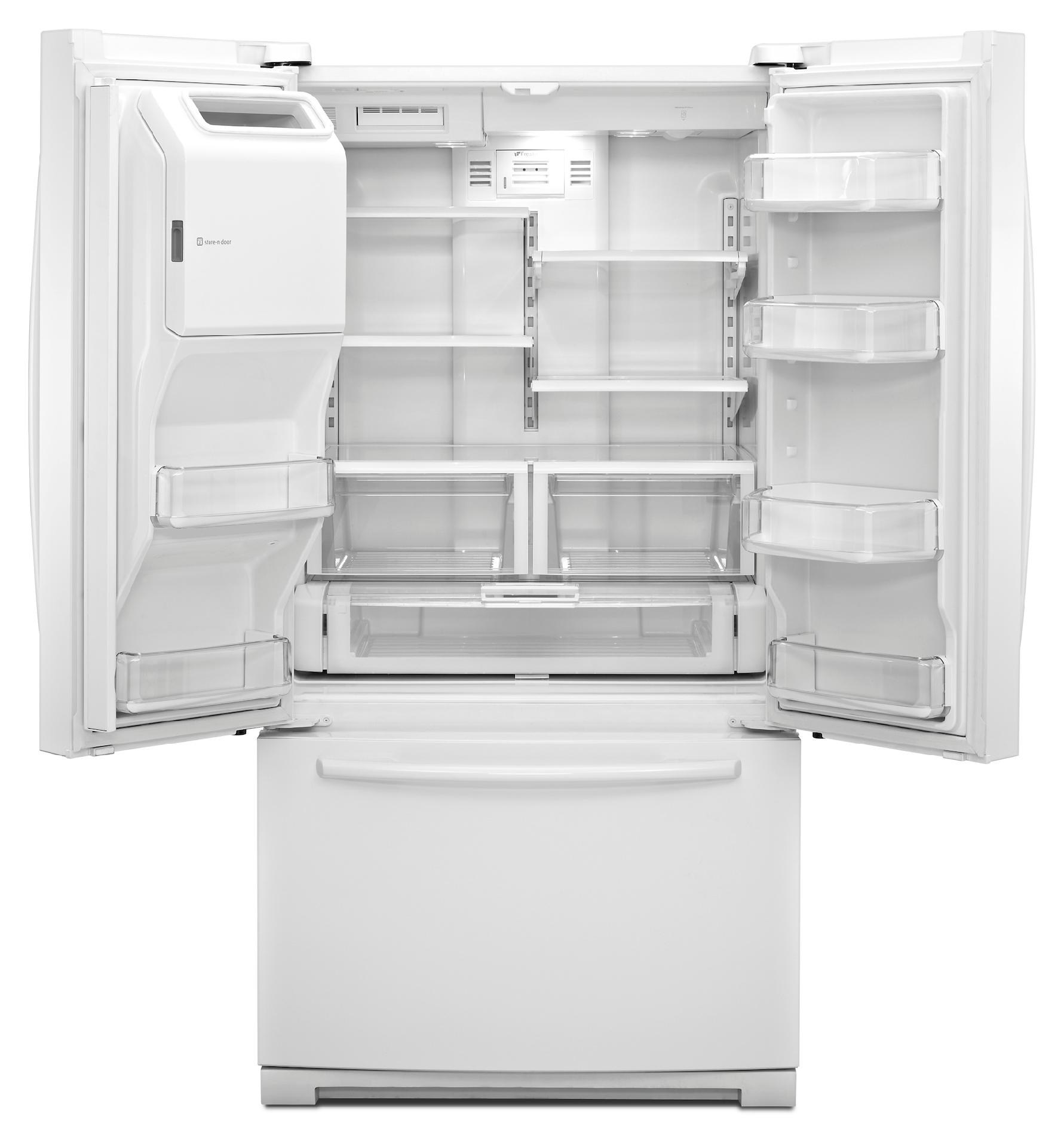 Maytag 26.1 cu. ft. French-Door Refrigerator w/ 2X Life Compressor - White