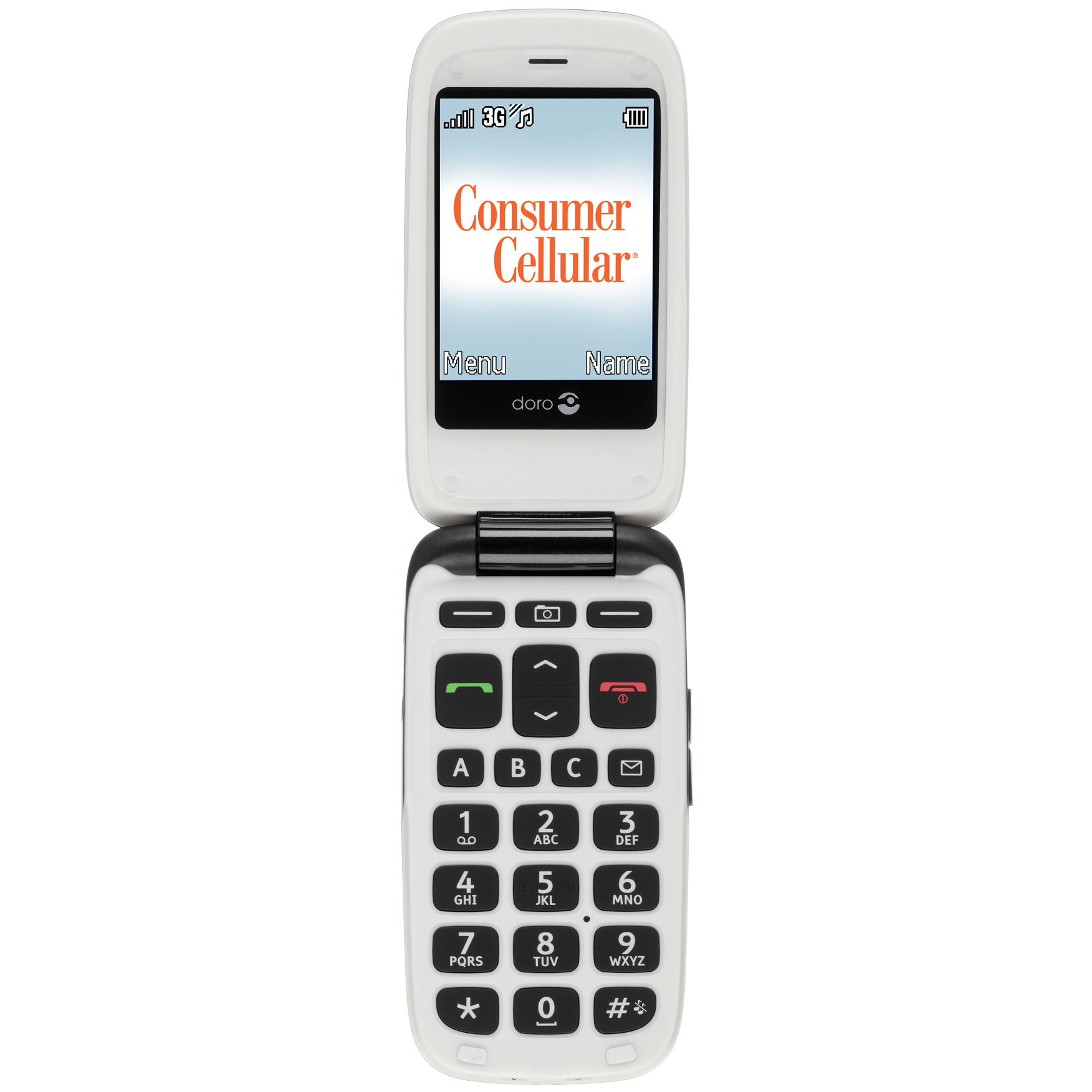 Consumer Cellular Doro PhoneEasy 618 - Black