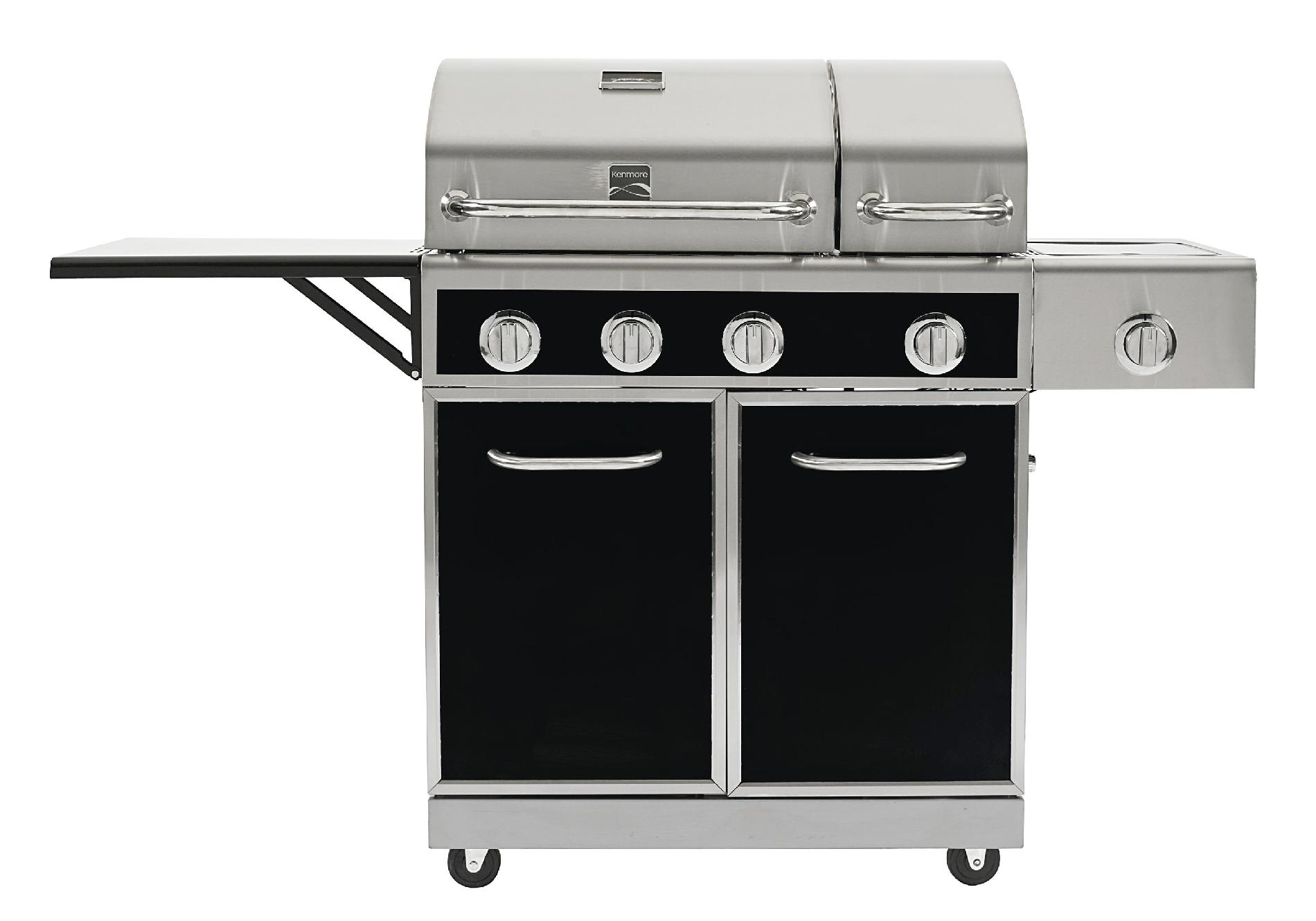 Kenmore 4 Burner Gas Grill with Split Lid
