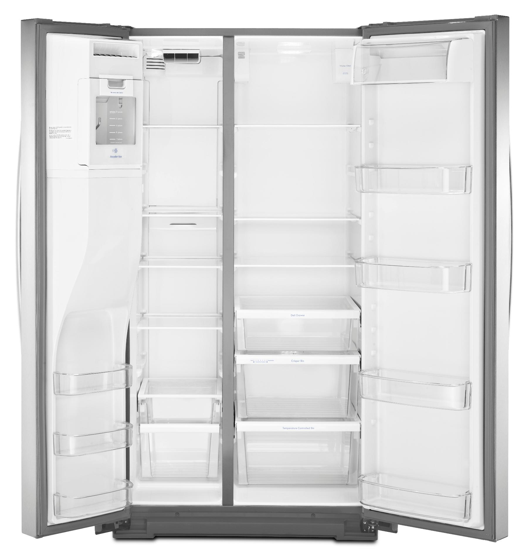 Kenmore 51133 26 cu. ft. Side-by-Side Refrigerator—Stainless Steel