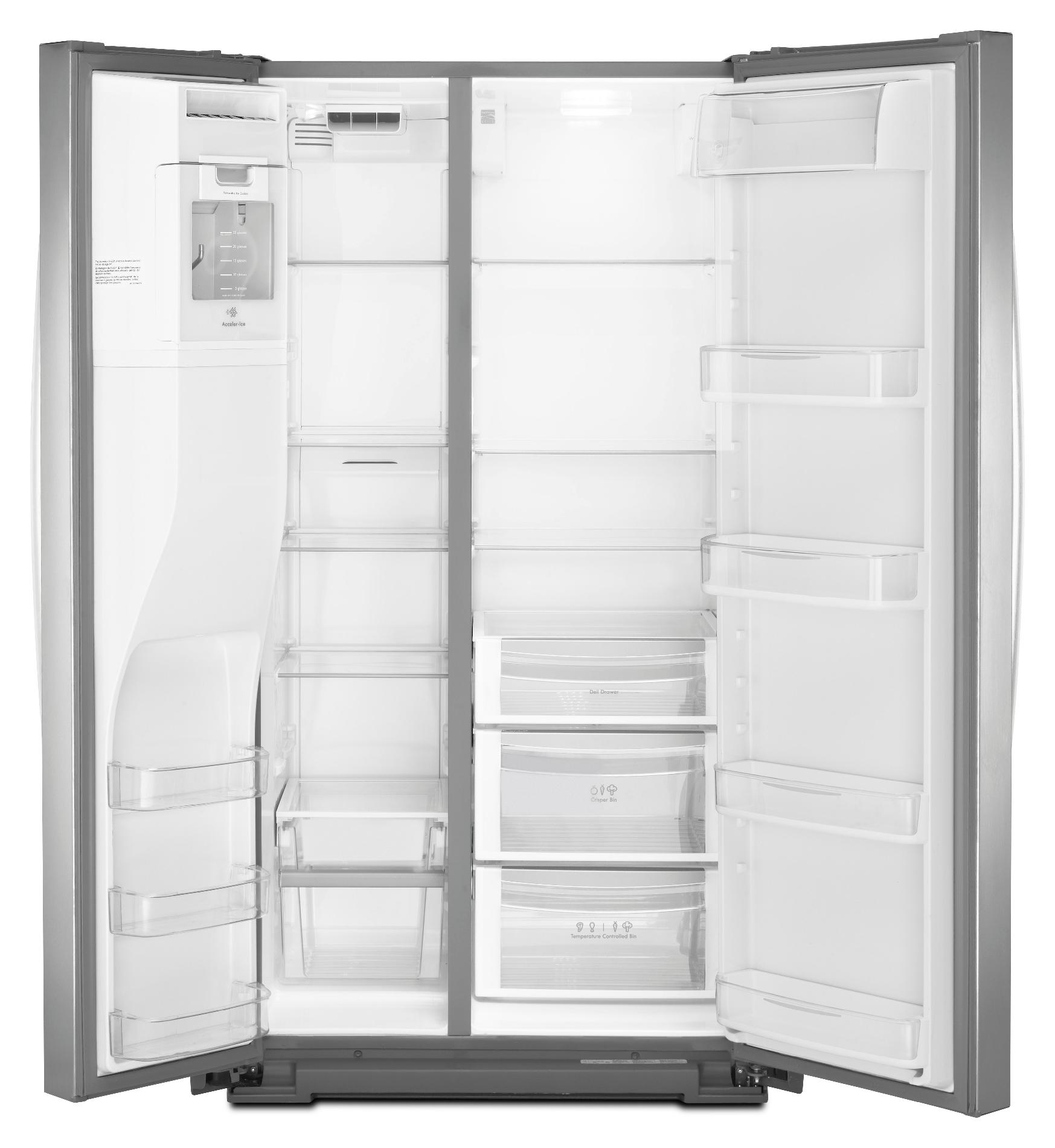 Kenmore Elite 26 cu. ft. Side-by-Side Refrigerator - Stainless Steel