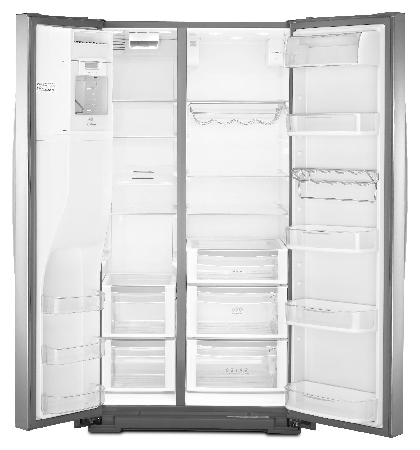 Kenmore Elite 29.8 cu. ft. Side-by-Side Refrigerator - Stainless Steel