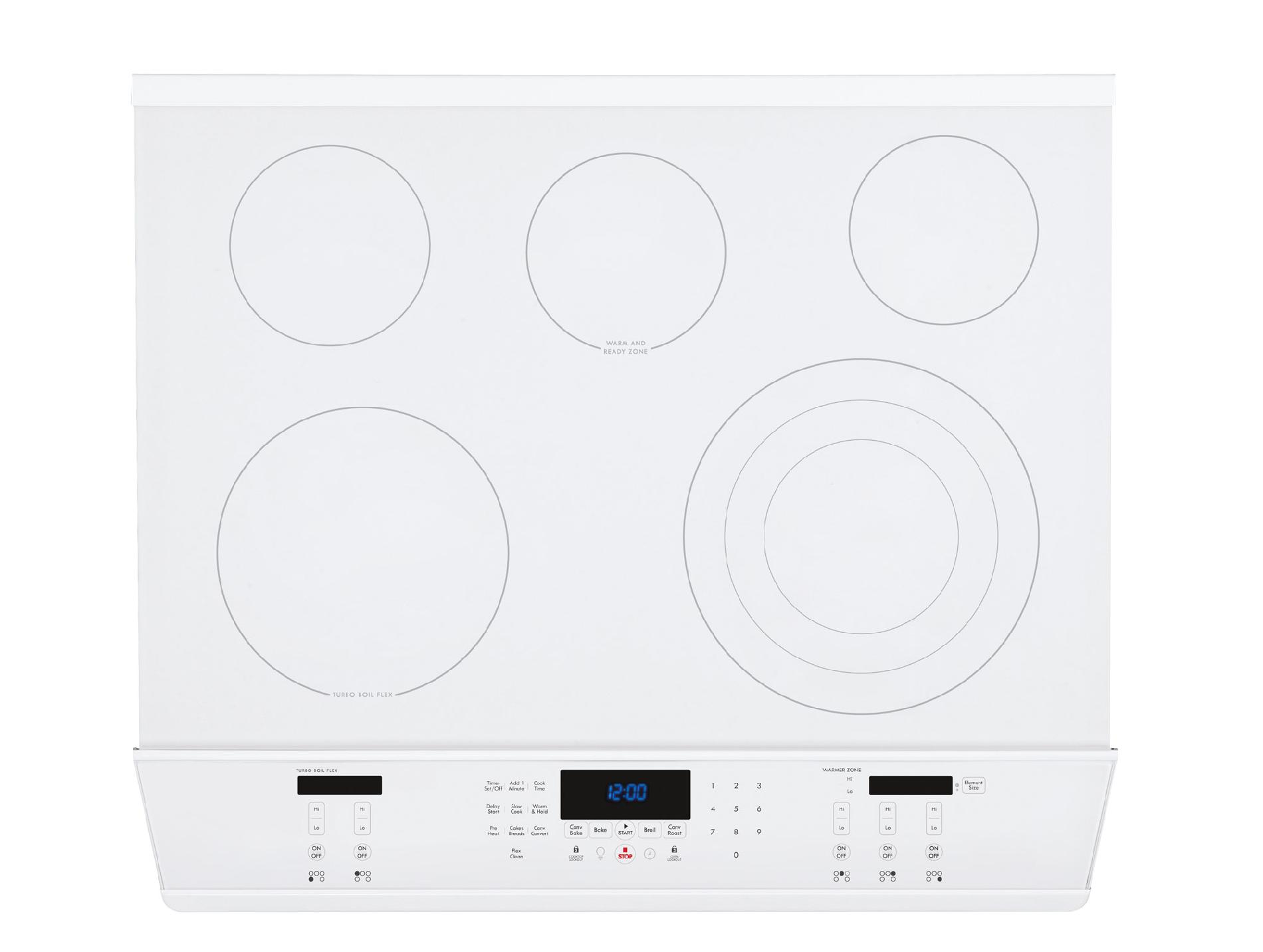 "Kenmore Elite 30"" Double-Oven Slide-In Electric Range w/Convection - White"
