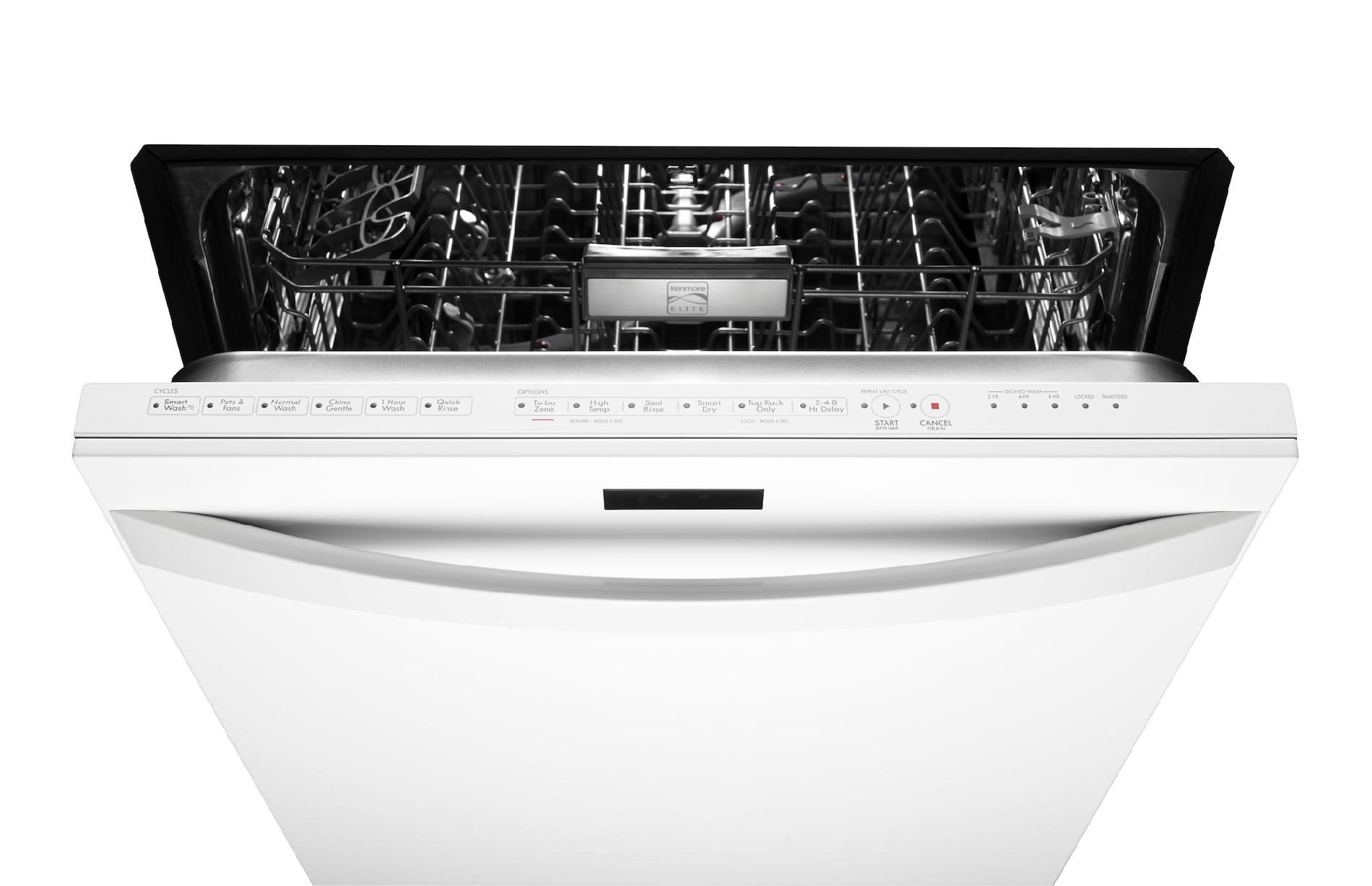 "Kenmore Elite 24"" Built-In Dishwasher - White"