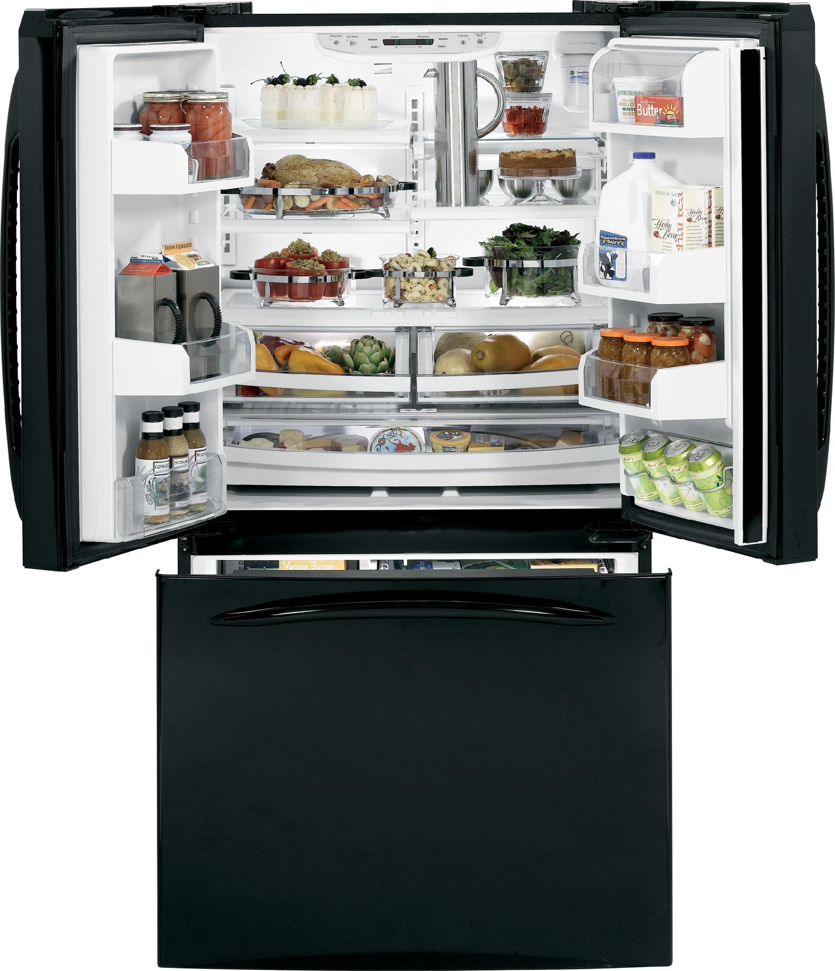 GE Profile 20.7 cu. ft. Counter-Depth French Door Refrigerator - Black
