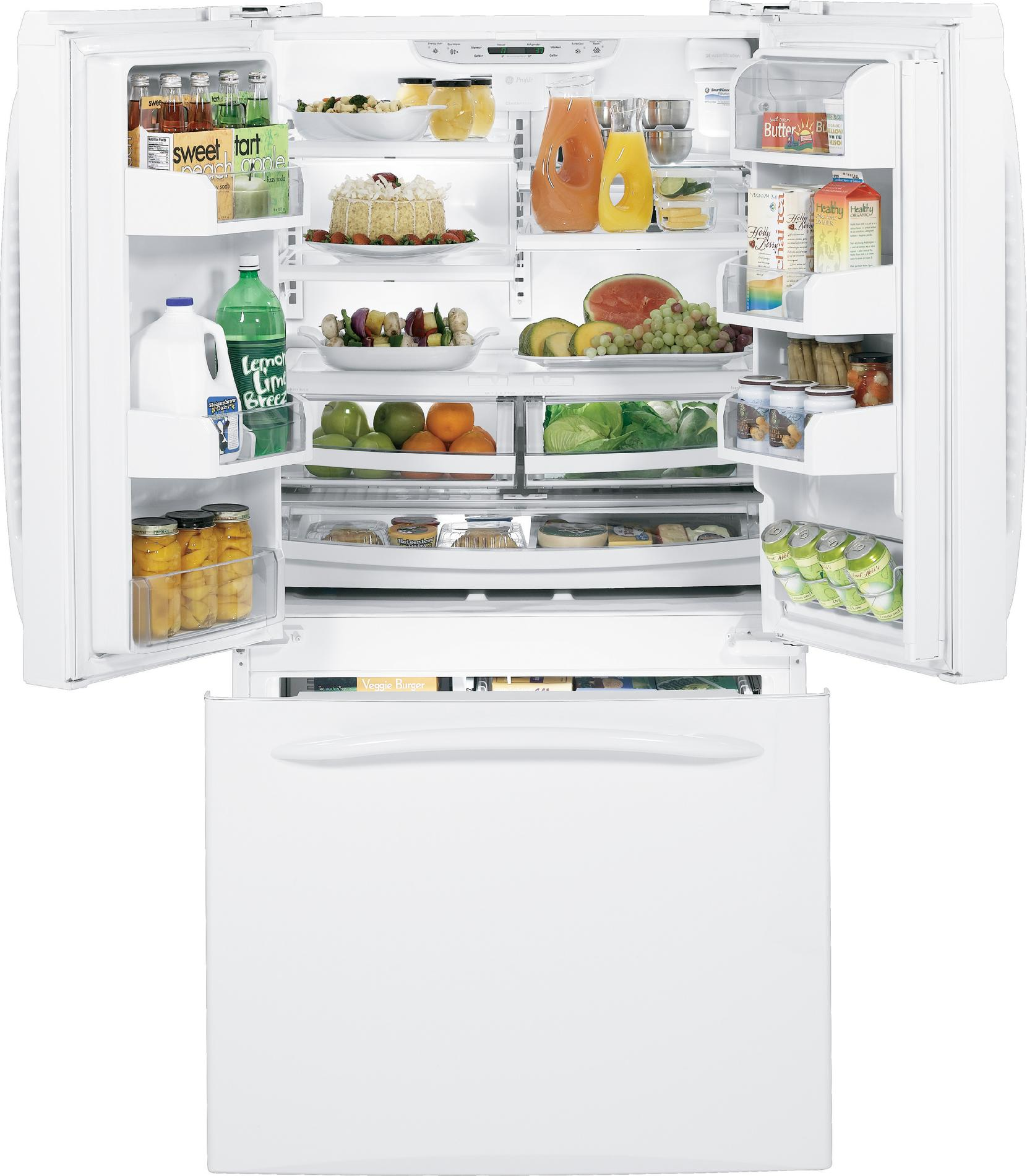 GE Profile 20.7 cu. ft. Counter-Depth French Door Refrigerator - White