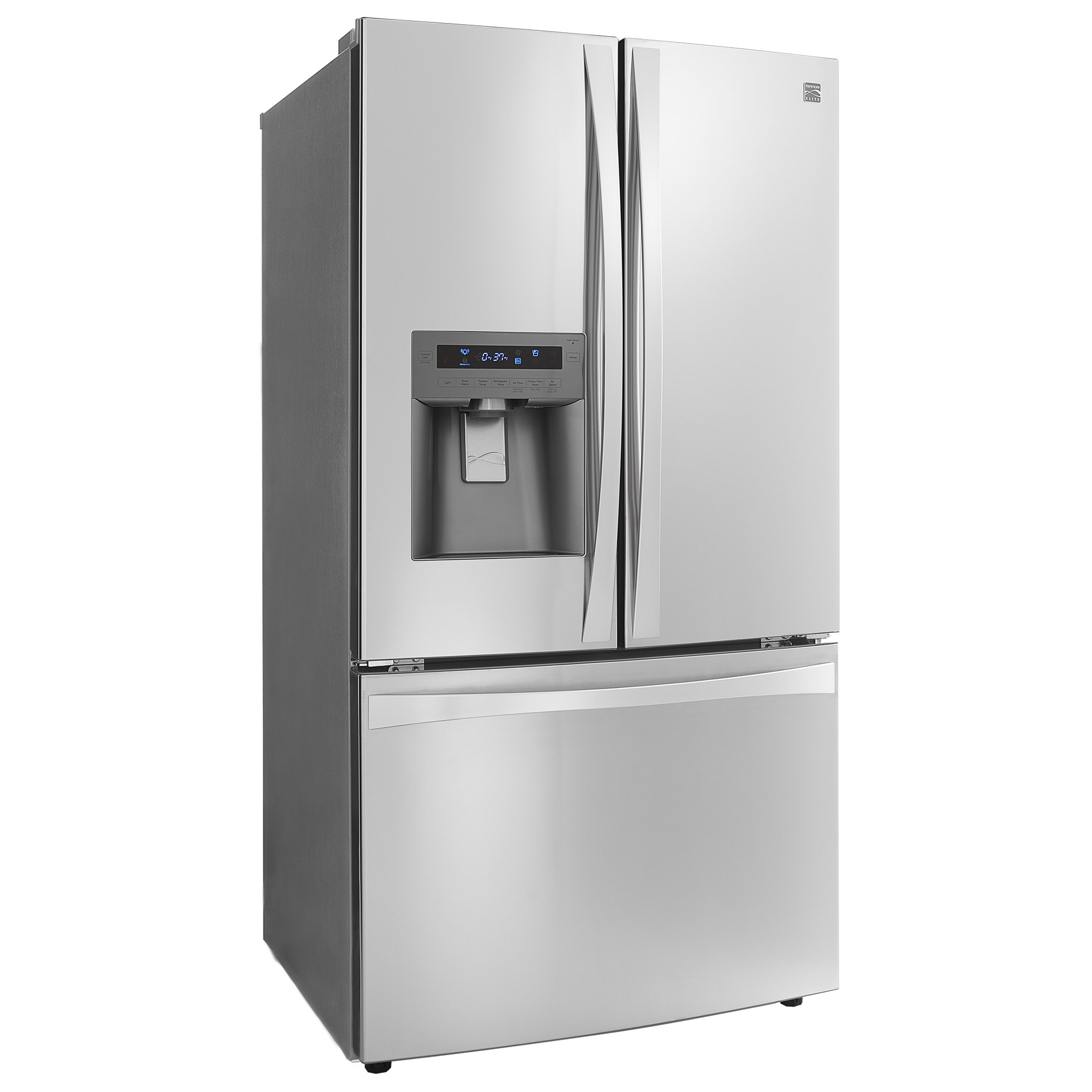 Kenmore Elite 33 cu. ft. French Door Bottom-Freezer Refrigerator - Stainless Steel