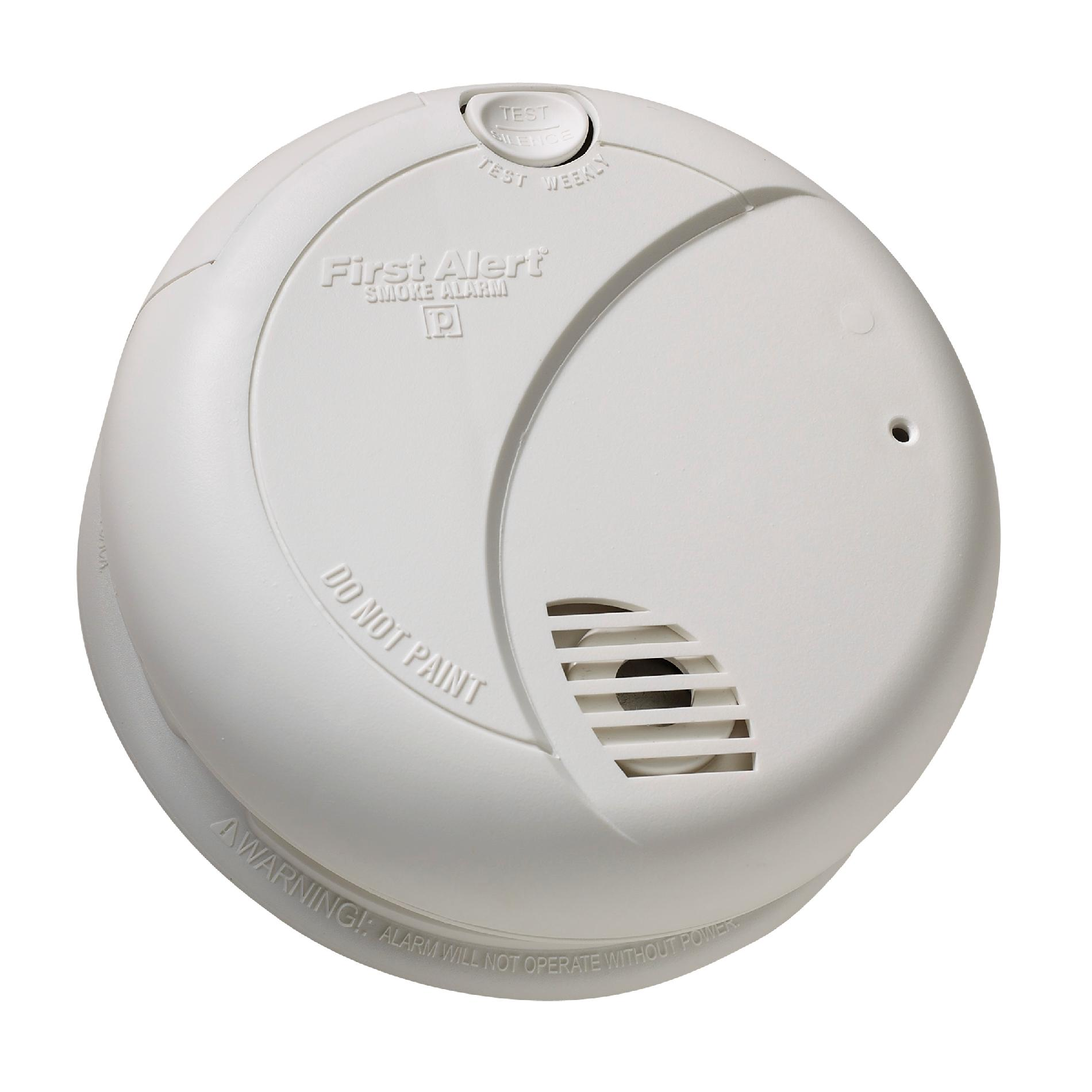 First Alert Smoke Alarm with Photoelectric Smoke Sensing Technology