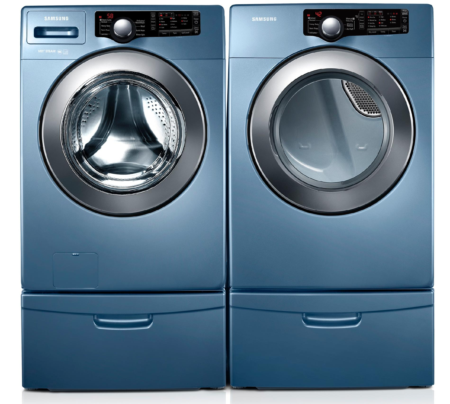 Samsung 3.6 cu. ft. High-Efficiency Front-Load Washer - Blue