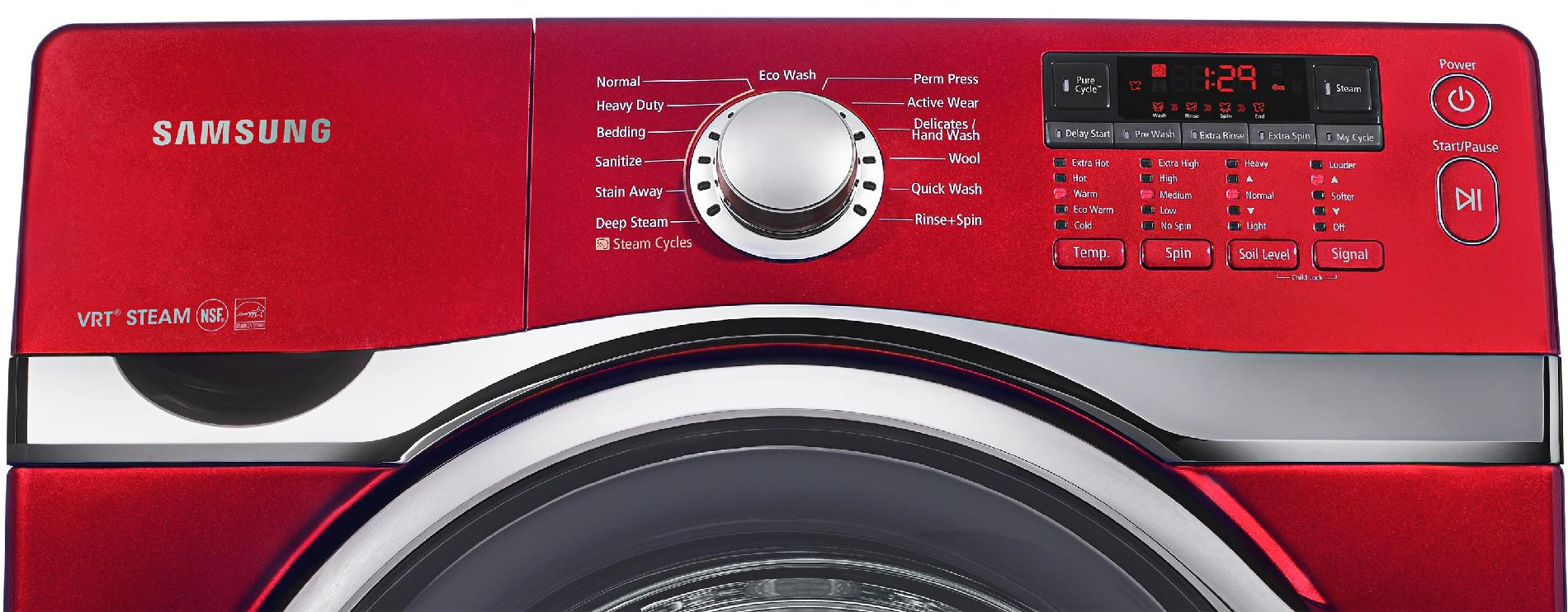 Samsung 3.9 cu. ft. High-Efficiency Front-Load Washer - Tango Red