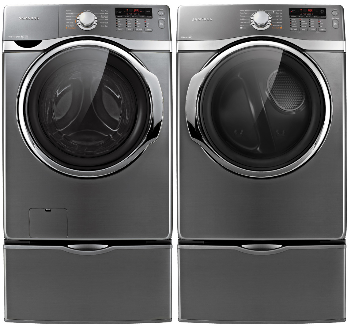 Samsung 3.9 cu. ft. High-Efficiency Front-Load Washer - Stainless Platinum