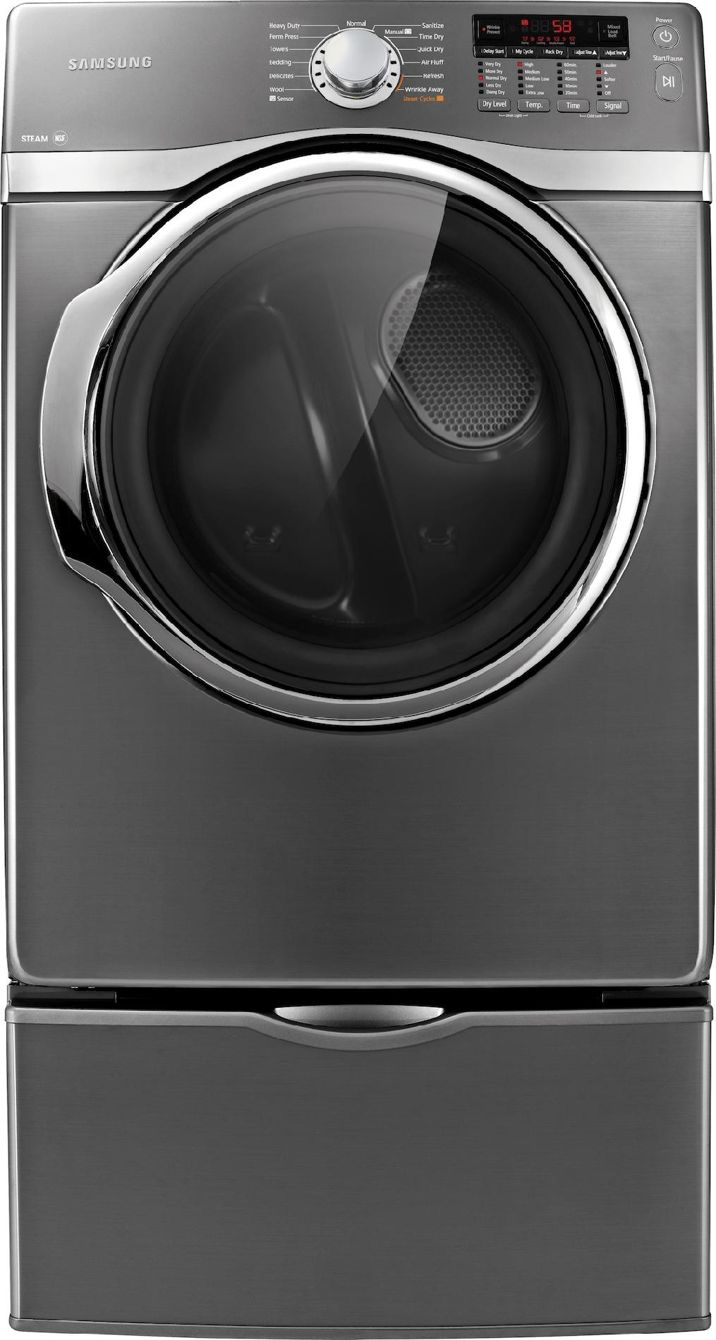 Samsung 7.4 cu. ft. Steam Electric Dryer - Stainless Platinum