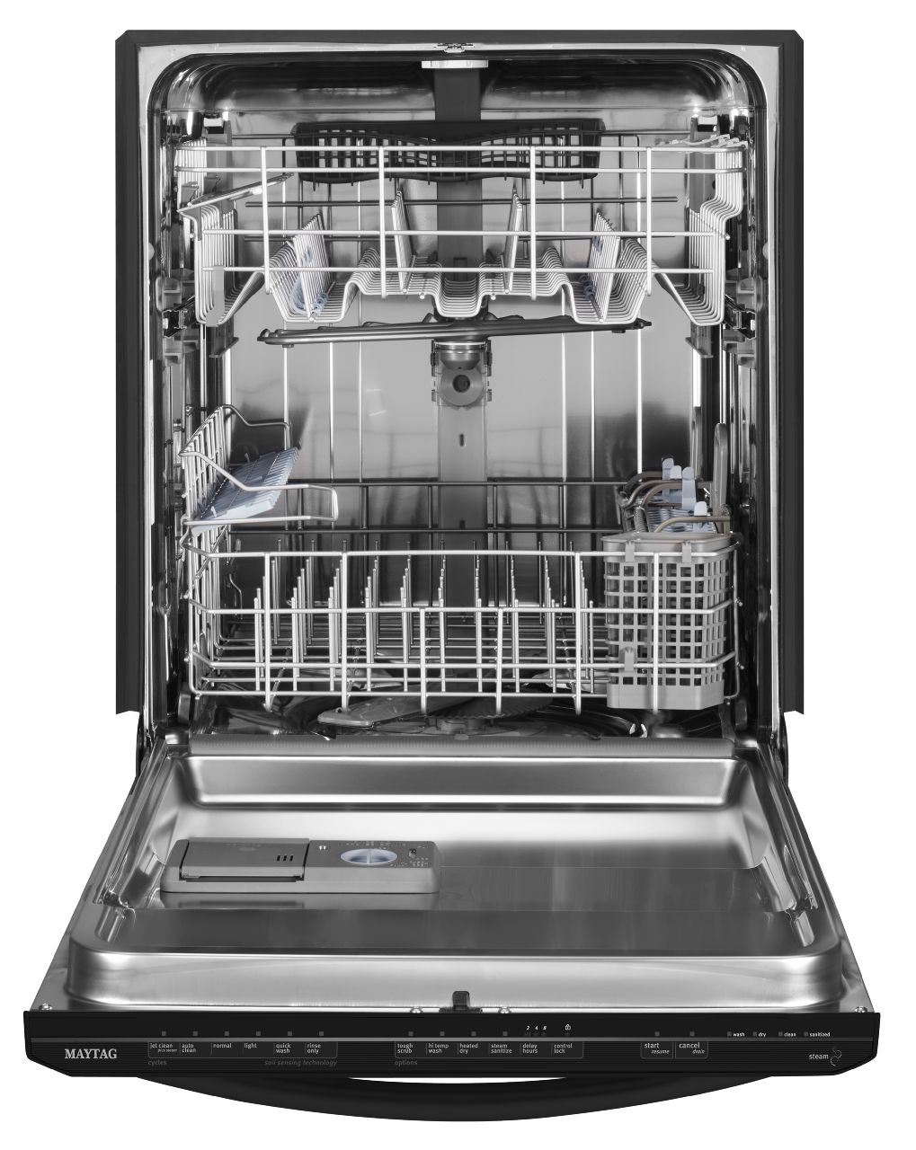 "Maytag 24"" Jetclean® Plus Built-In Dishwasher w/ Premium Rack Glides - Black"