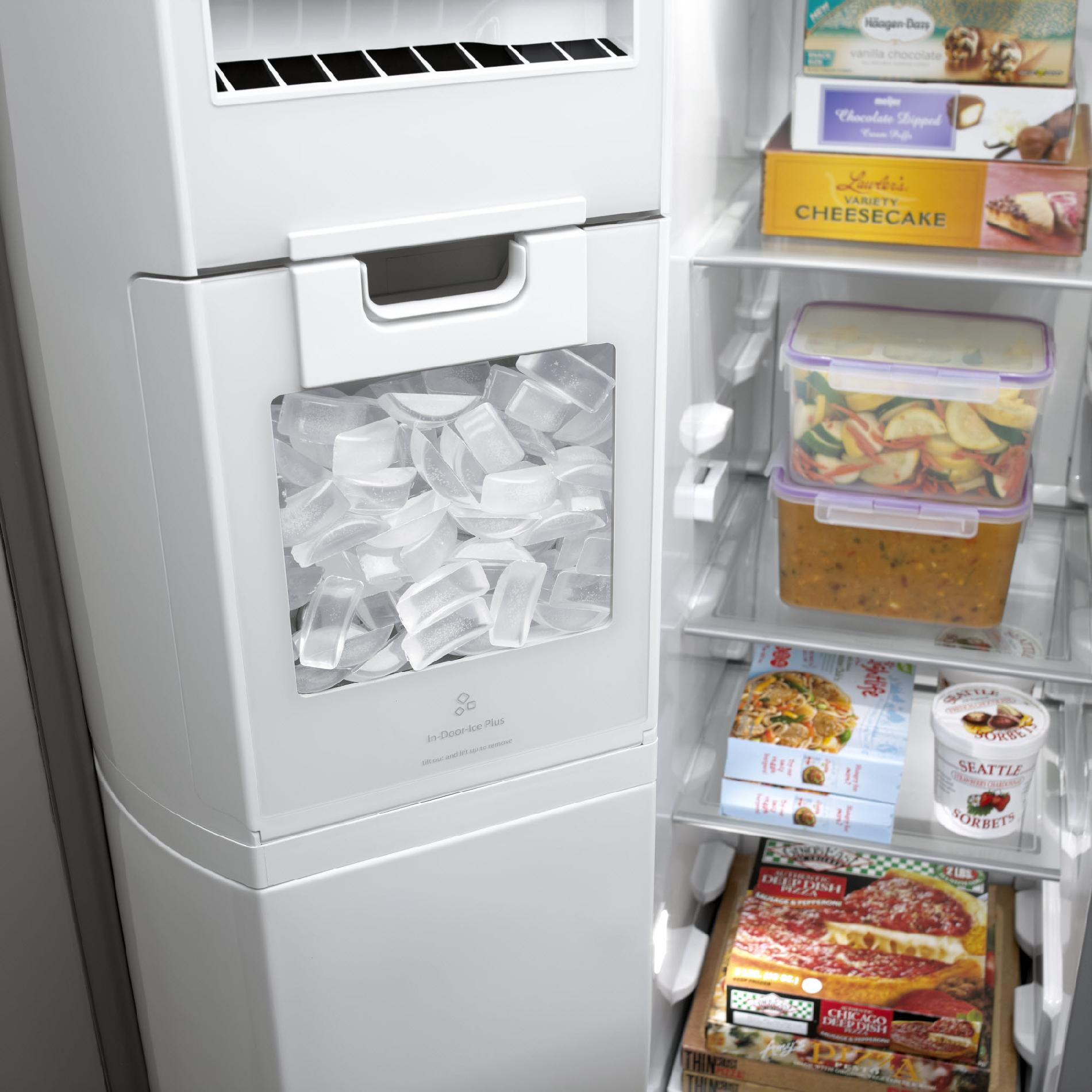 Whirlpool 26.4 cu. ft. Side-by-Side Refrigerator w/ In-Door-Ice® Plus System - White Ice