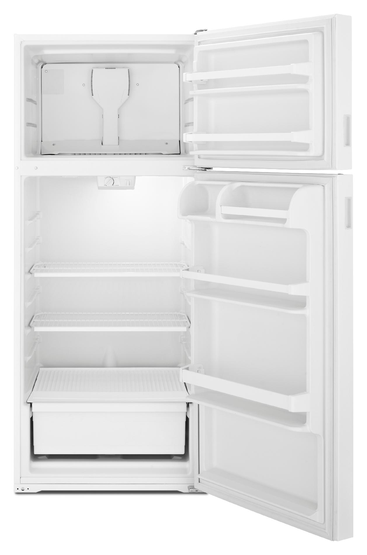 A well-known brand 18 cu ft top freezer refrigerator
