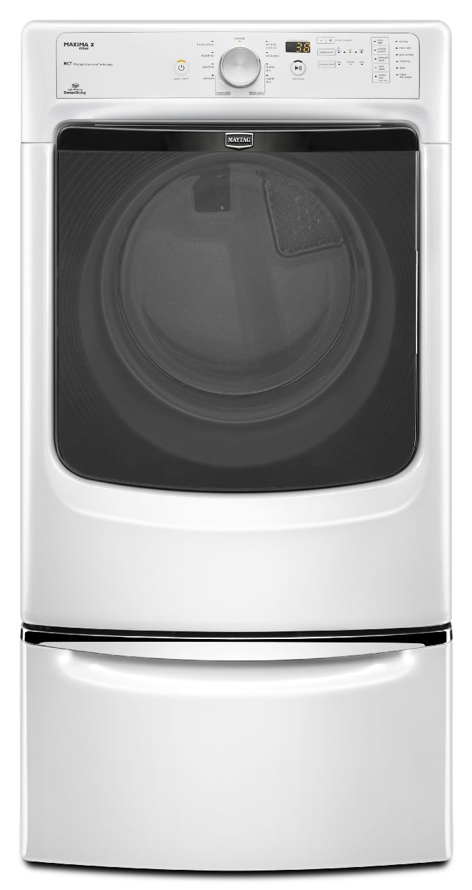 Maytag 7.4 cu. ft. Electric Dryer w/ Steam - White