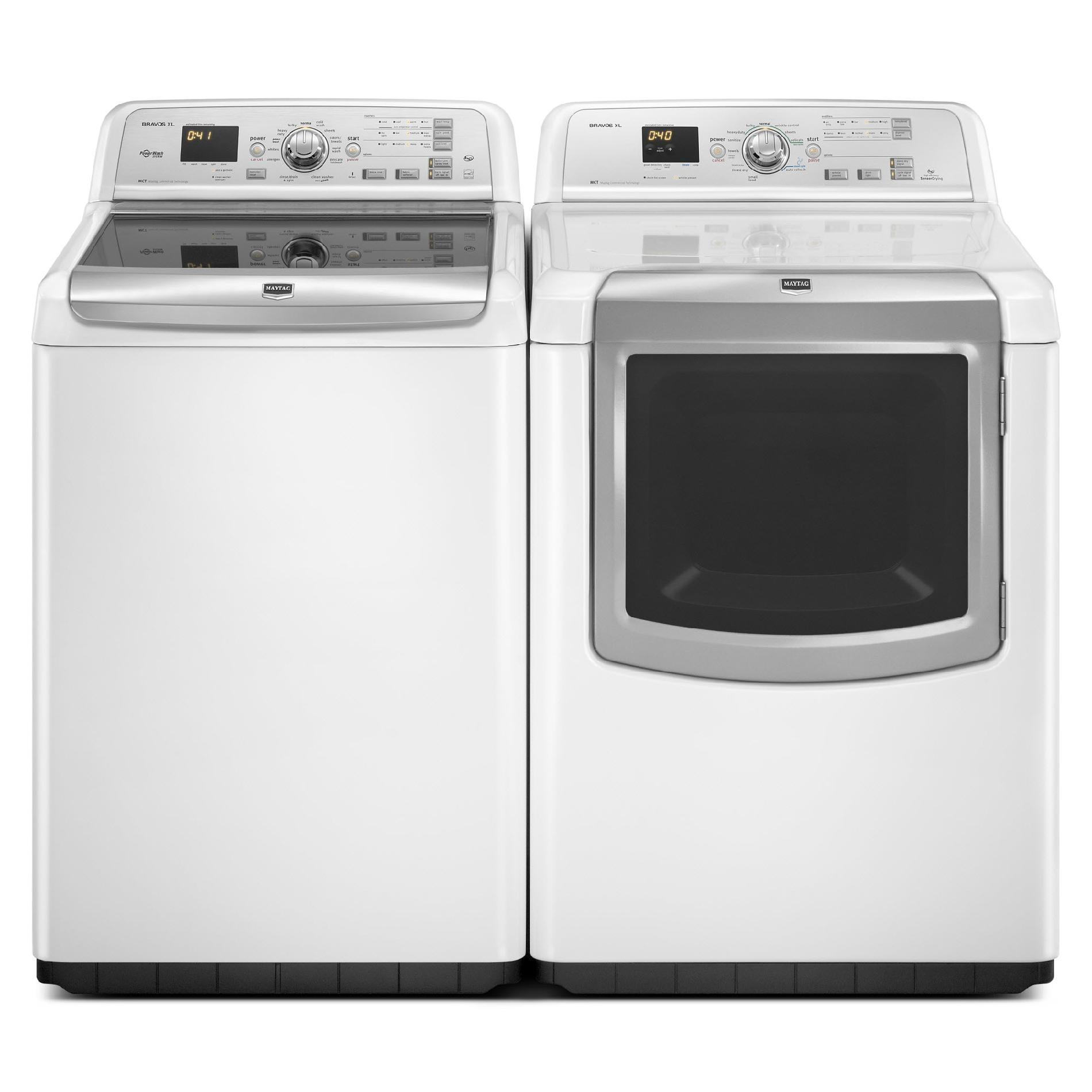 Maytag 4.6 cu. ft.  High-Efficiency Top-Load  Washer w/ PowerWash™ - White