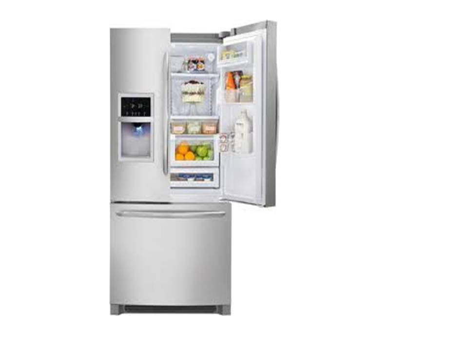 National Brand 26.7 cu. ft. French-Door Bottom-Freezer Refrigerator White