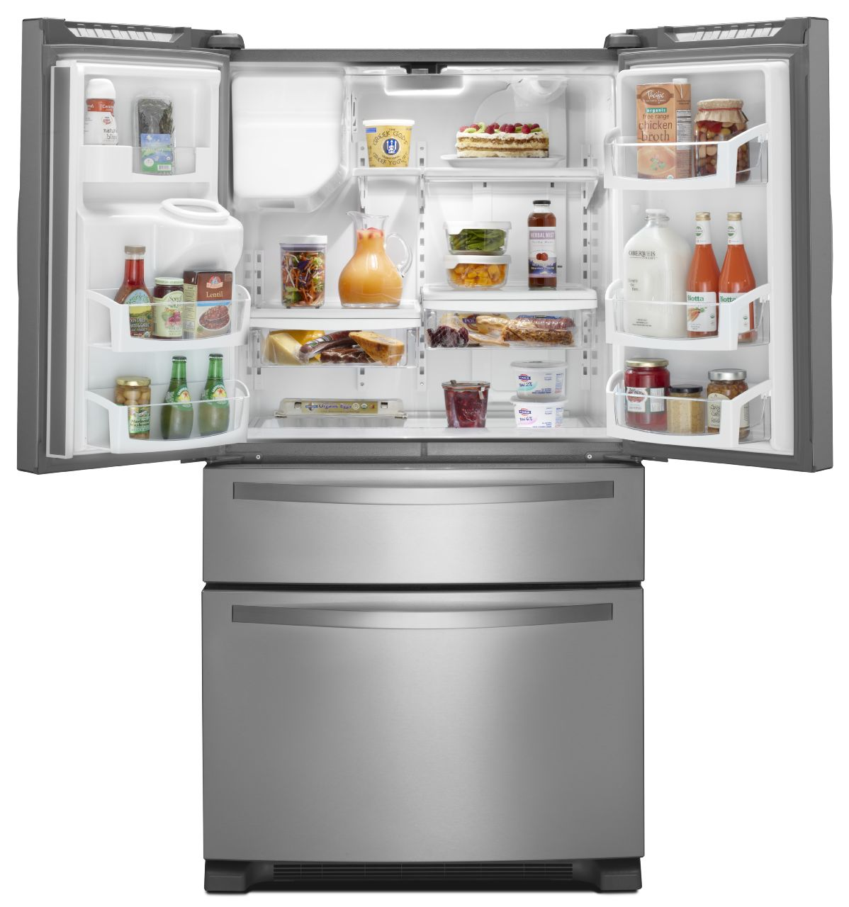Whirlpool 25.0 cu. ft. French Door Refrigerator w/ Refrigerated Drawer - Stainless Steel