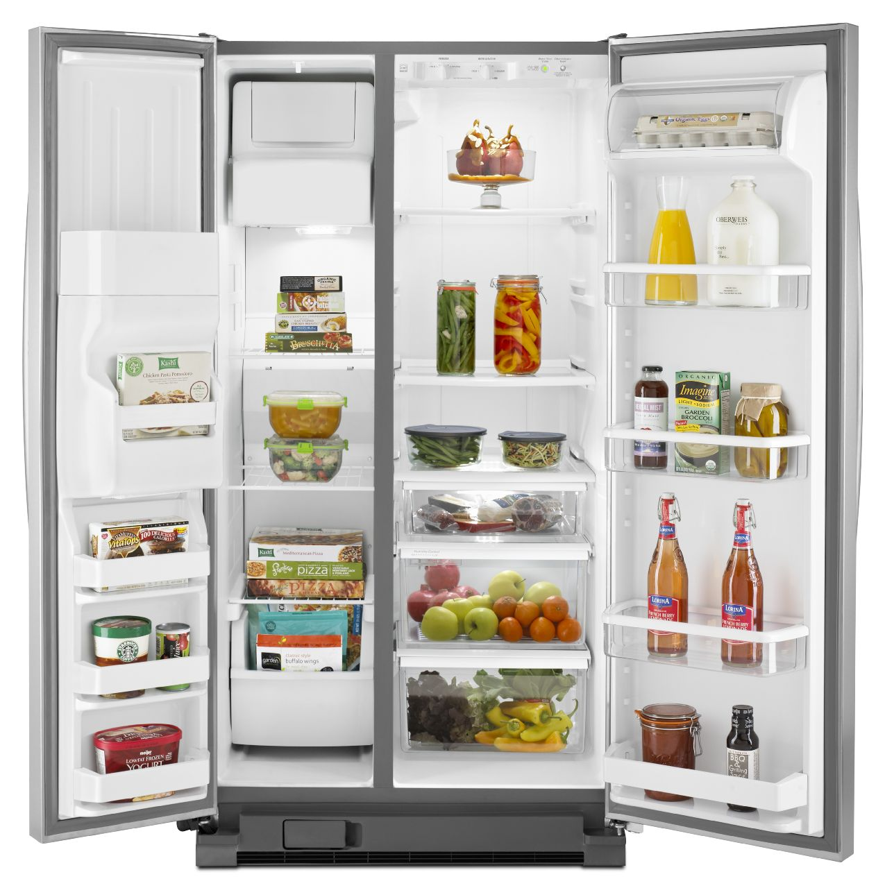 Whirlpool 25.0 cu. ft. Side-by-Side Refrigerator w/ Accu-Chill™ - Stainless Steel