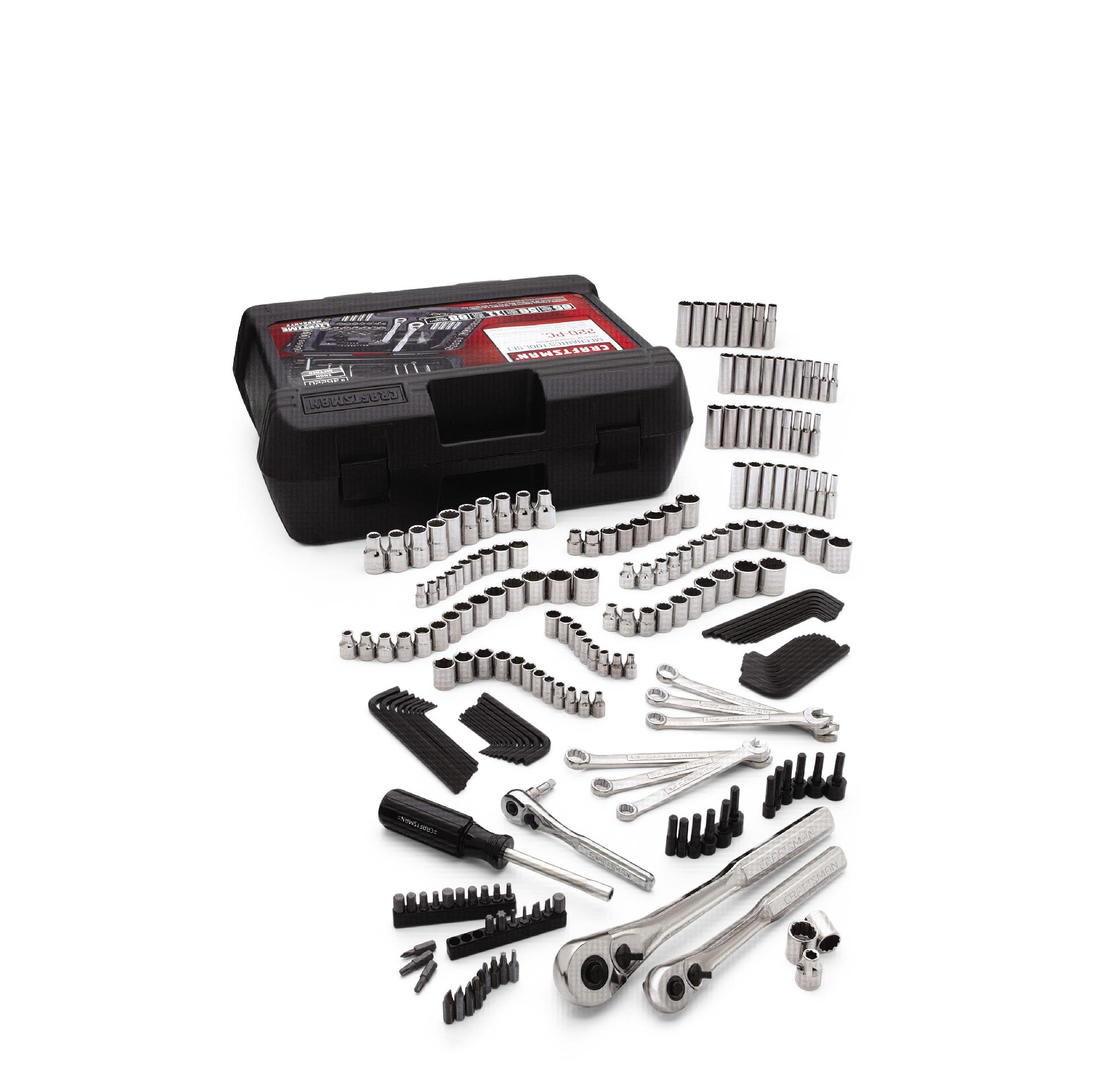 Craftsman 220pc Mechanics Tool Set with Case