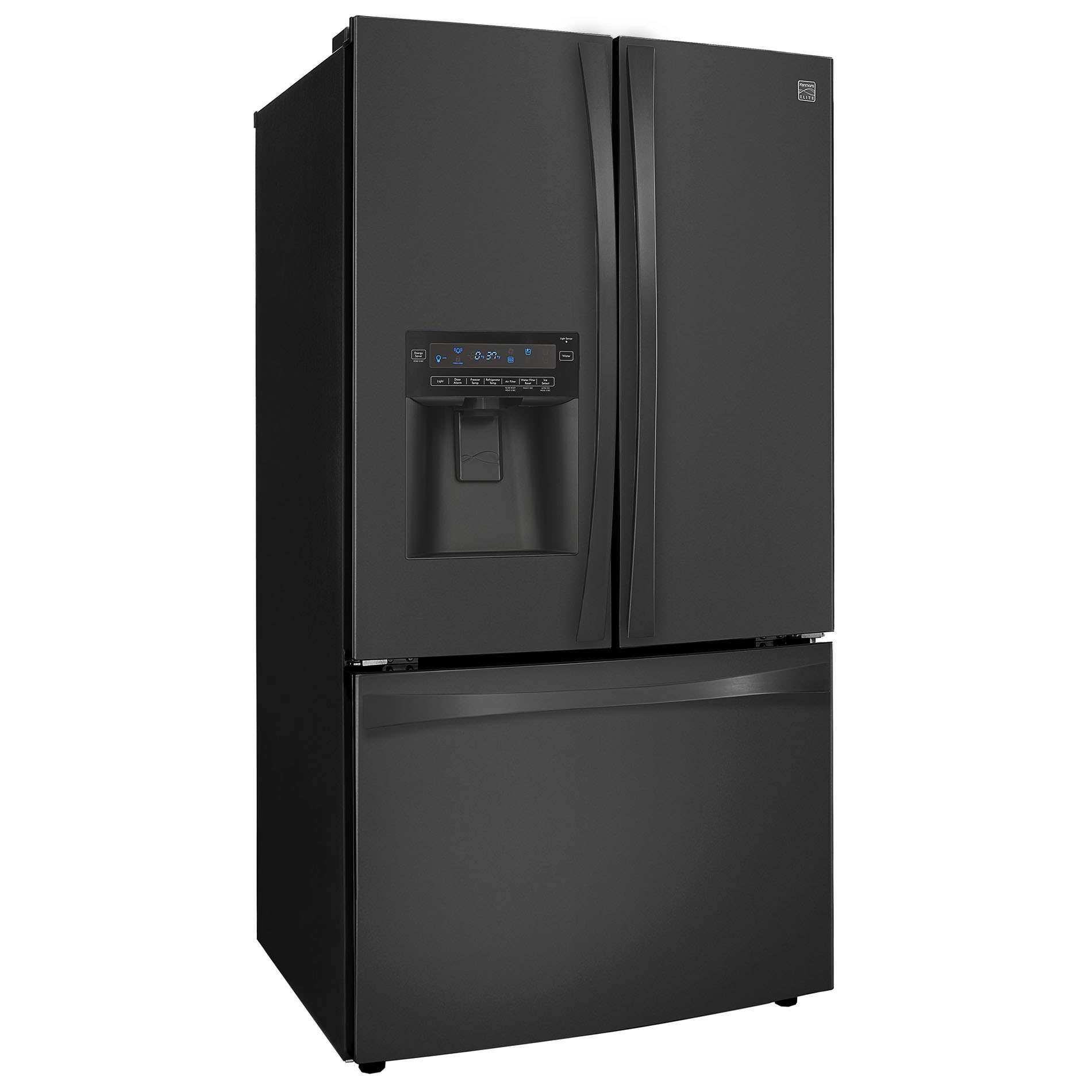 Kenmore Elite 33 cu. ft. French Door Bottom-Freezer Refrigerator - Black