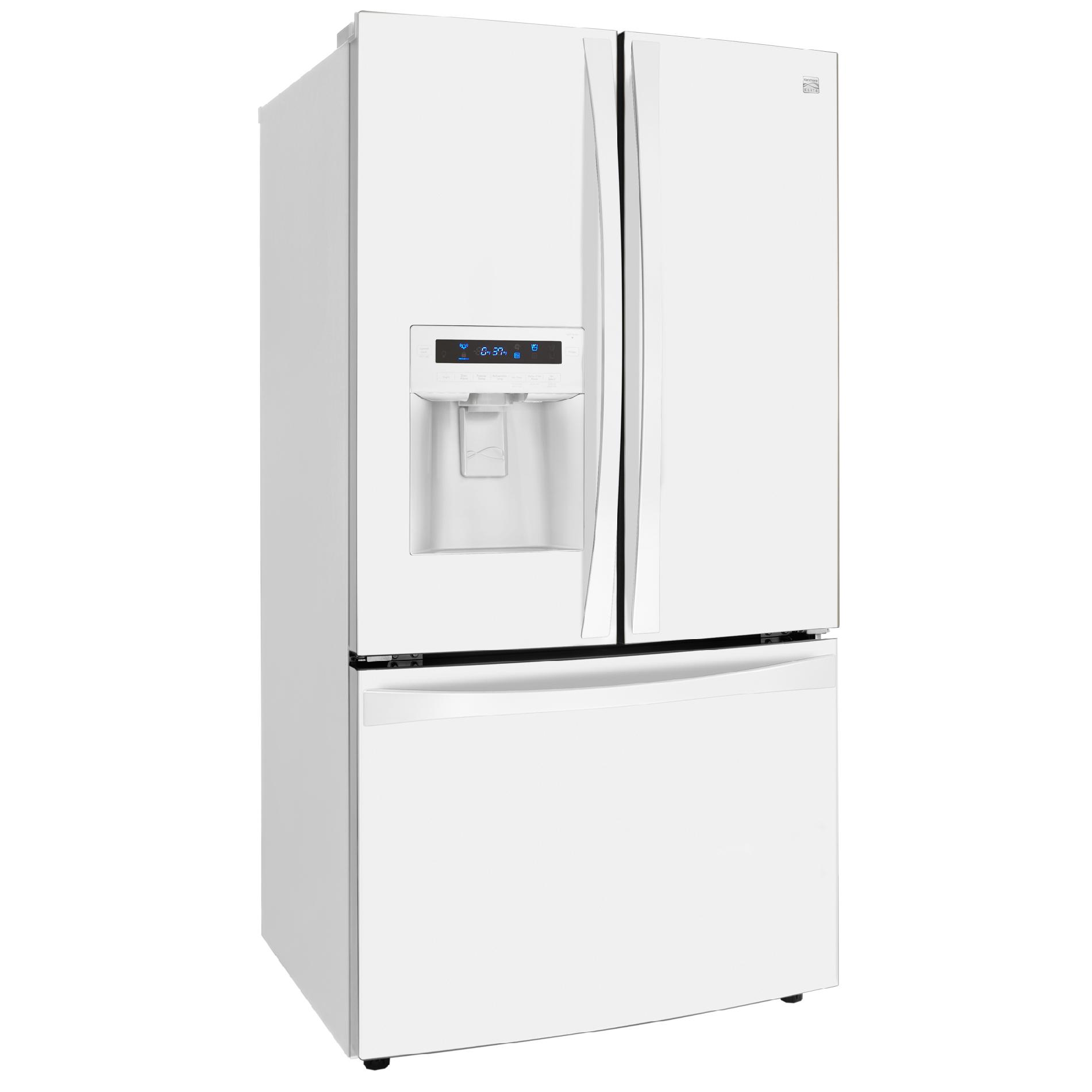 Kenmore Elite 33 cu. ft. French Door Bottom-Freezer Refrigerator - White