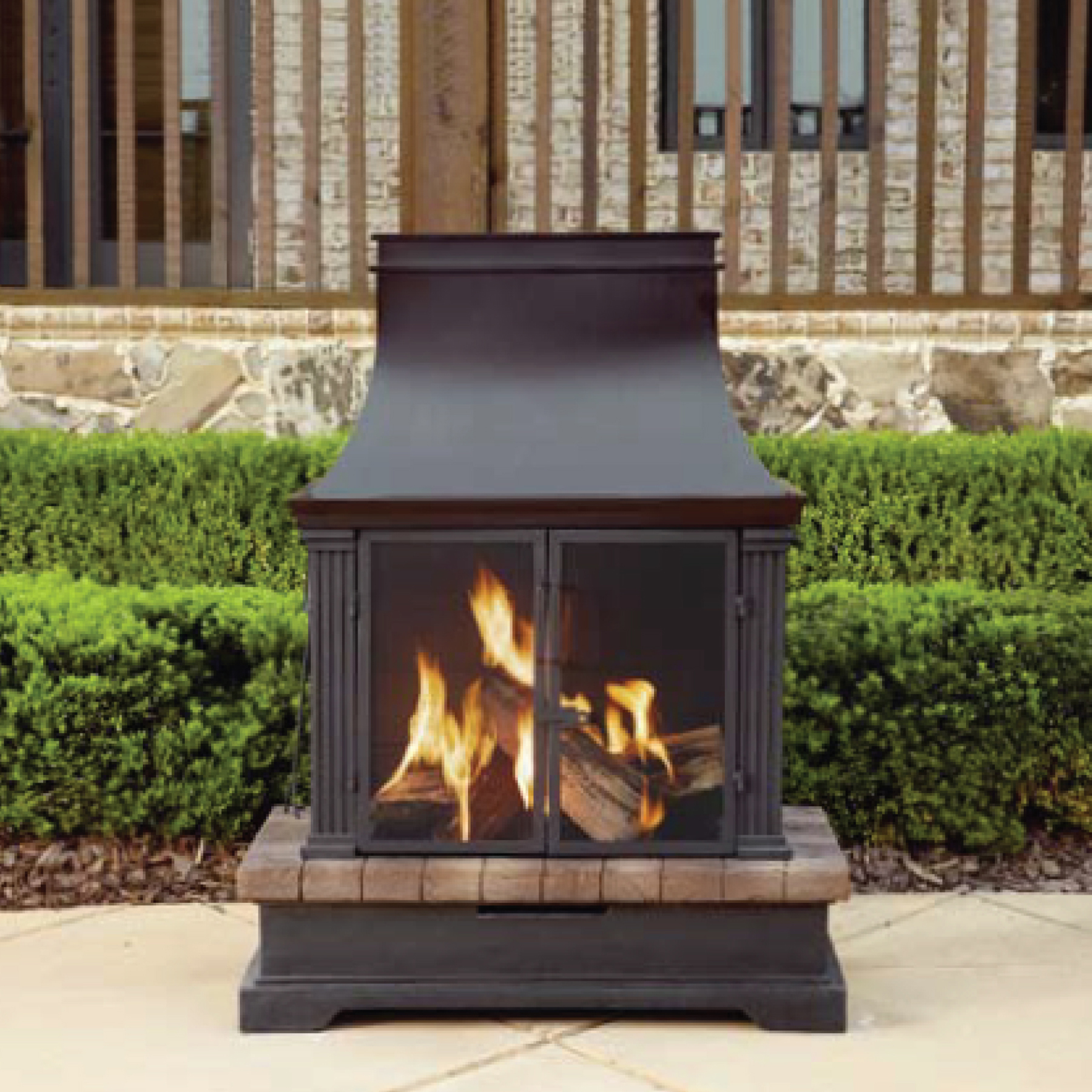Garden Oasis Wood Burning Fireplace