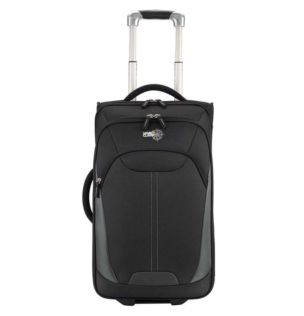 Lewis N Clark 22in Wheeled Upright Black Bag