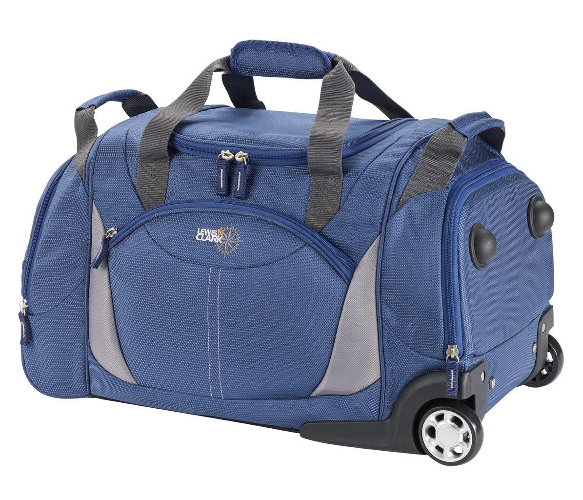 Lewis N Clark 22in Wheeled Duffel Blue
