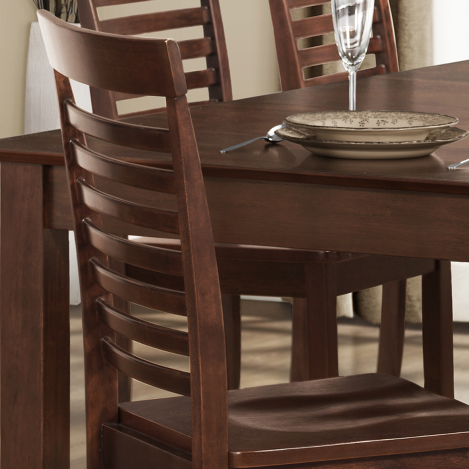 Oxford Creek Side Chairs in Dark Brown (Set of 2)