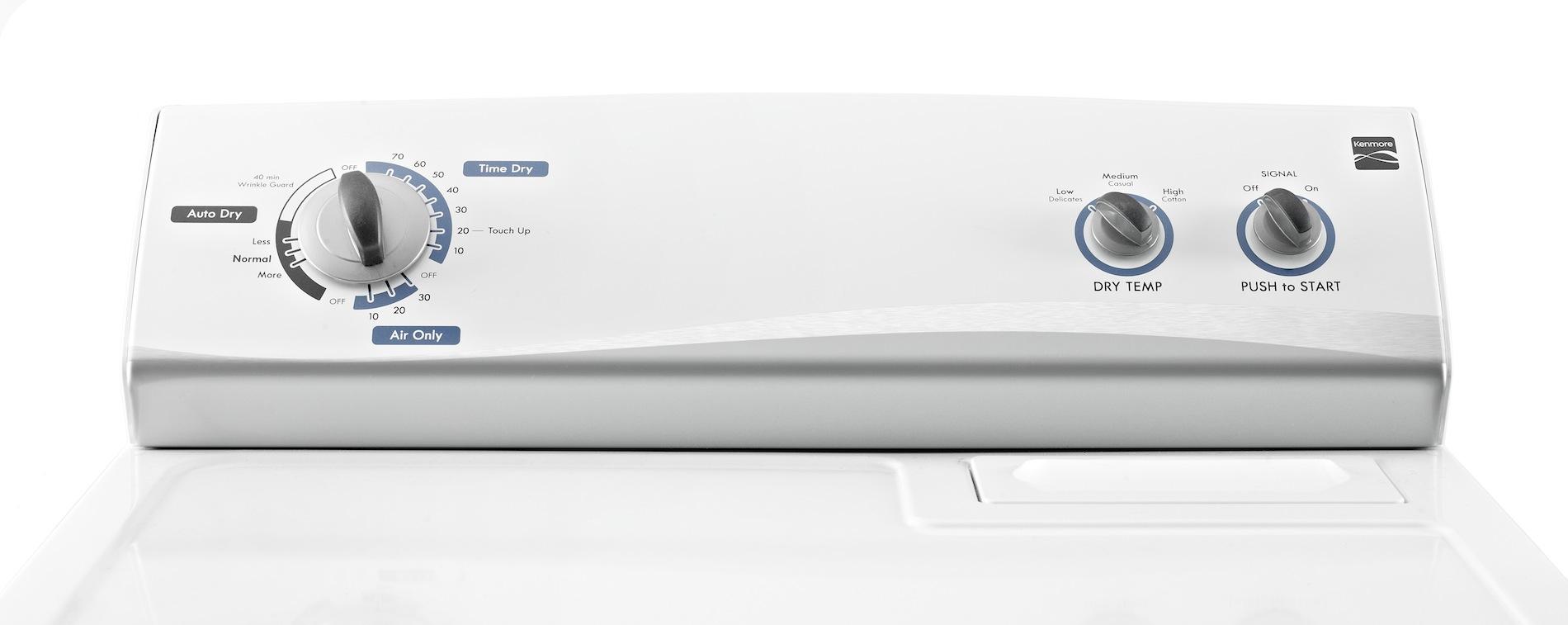 Kenmore 7.0 cu. ft. Gas Dryer w/ Wrinkle Guard® - White