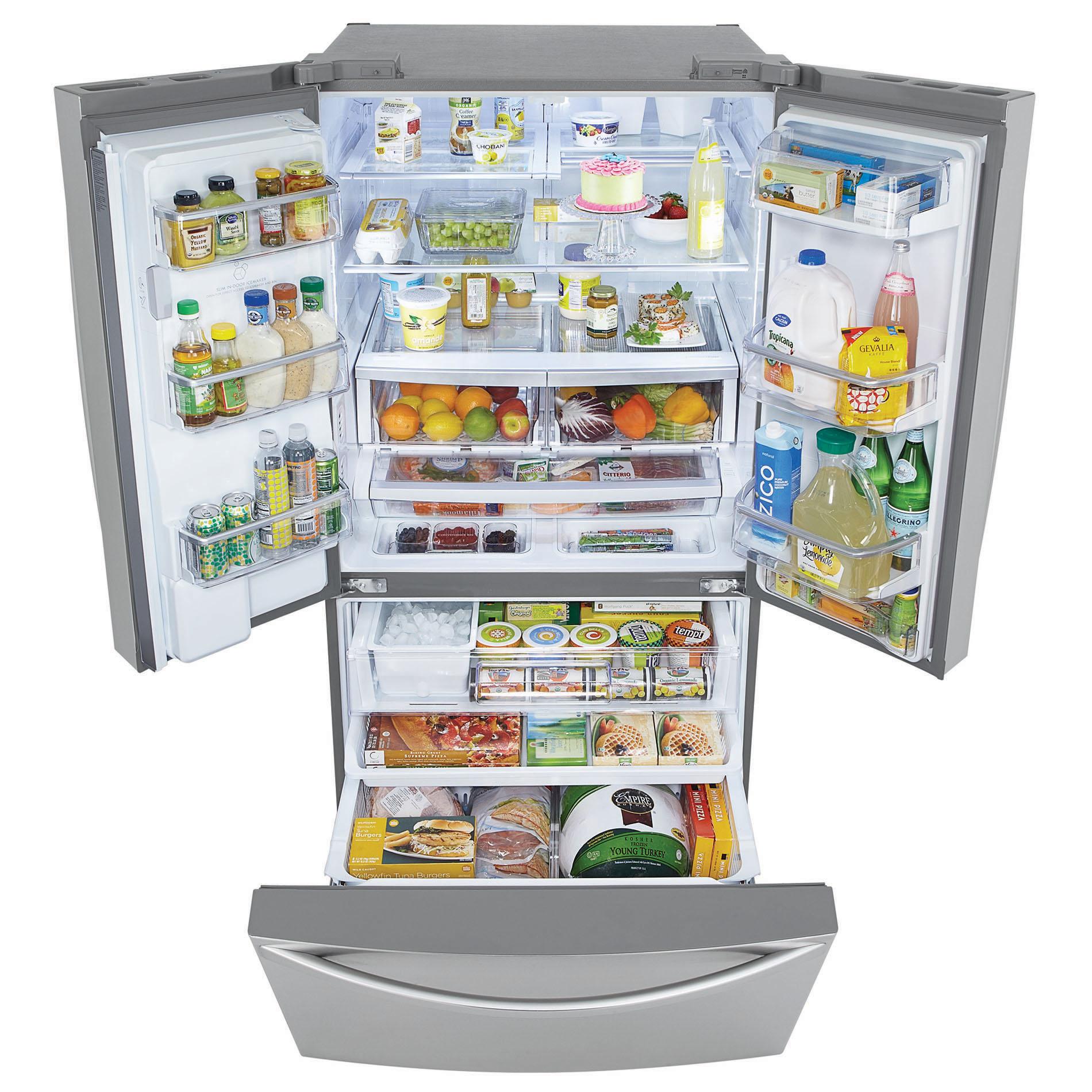 Kenmore Elite 33 cu. ft. French Door Bottom-Freezer Refrigerator - Stainless Steel