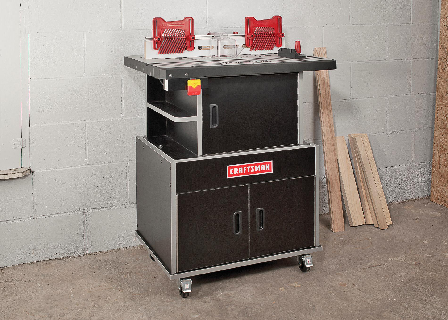 Craftsman Premium Router Table Base Cabinet - Sears