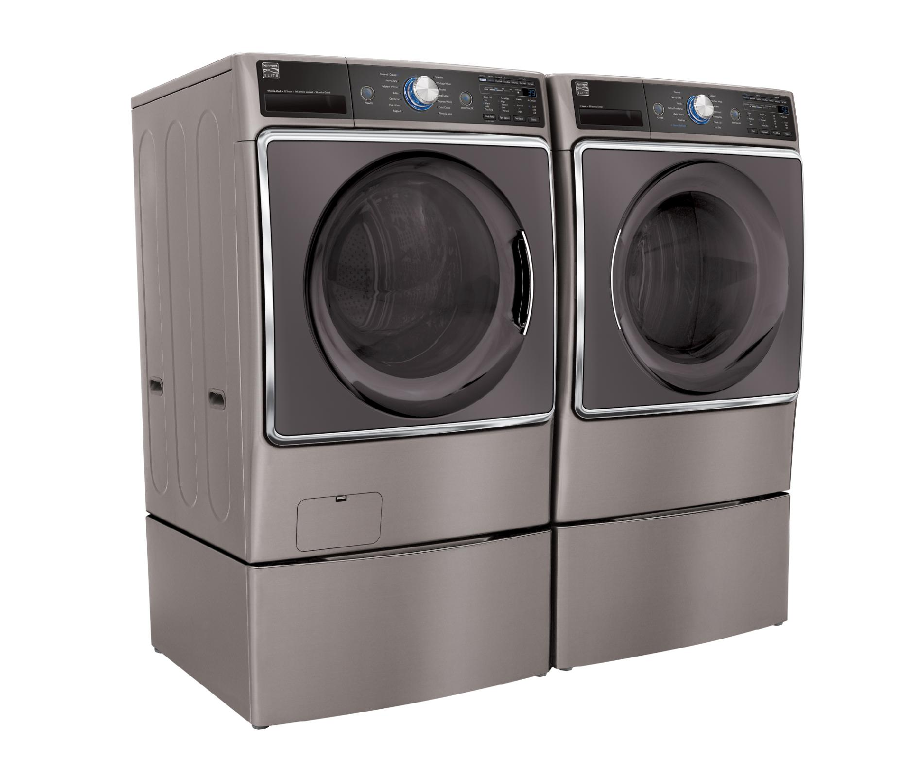 Kenmore Elite 41073 5.2 cu. ft. Front-Load Washer—Metallic Silver
