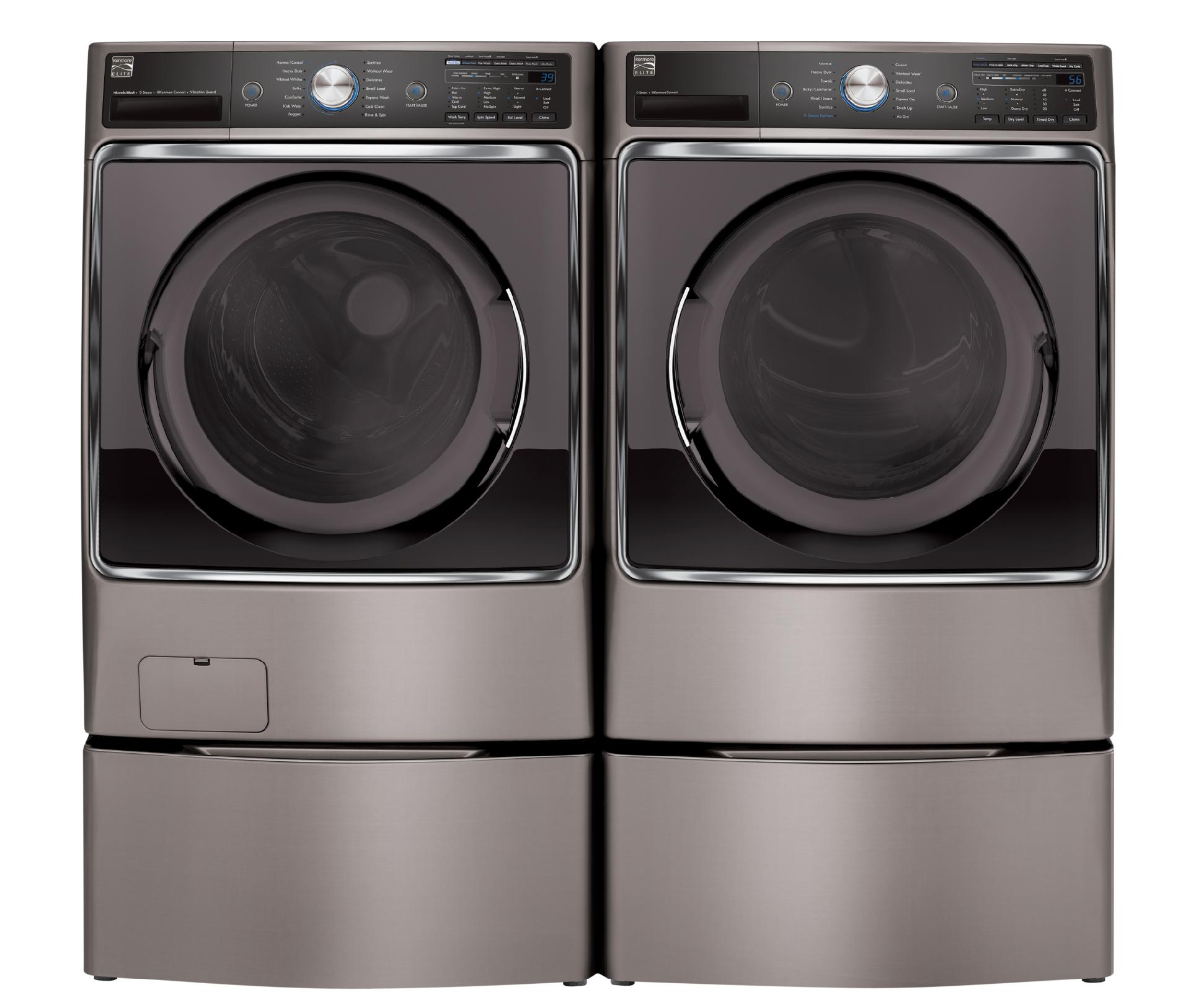 Kenmore Elite 41073 5.2 cu. ft. Front-Load Washer - Metallic Silver