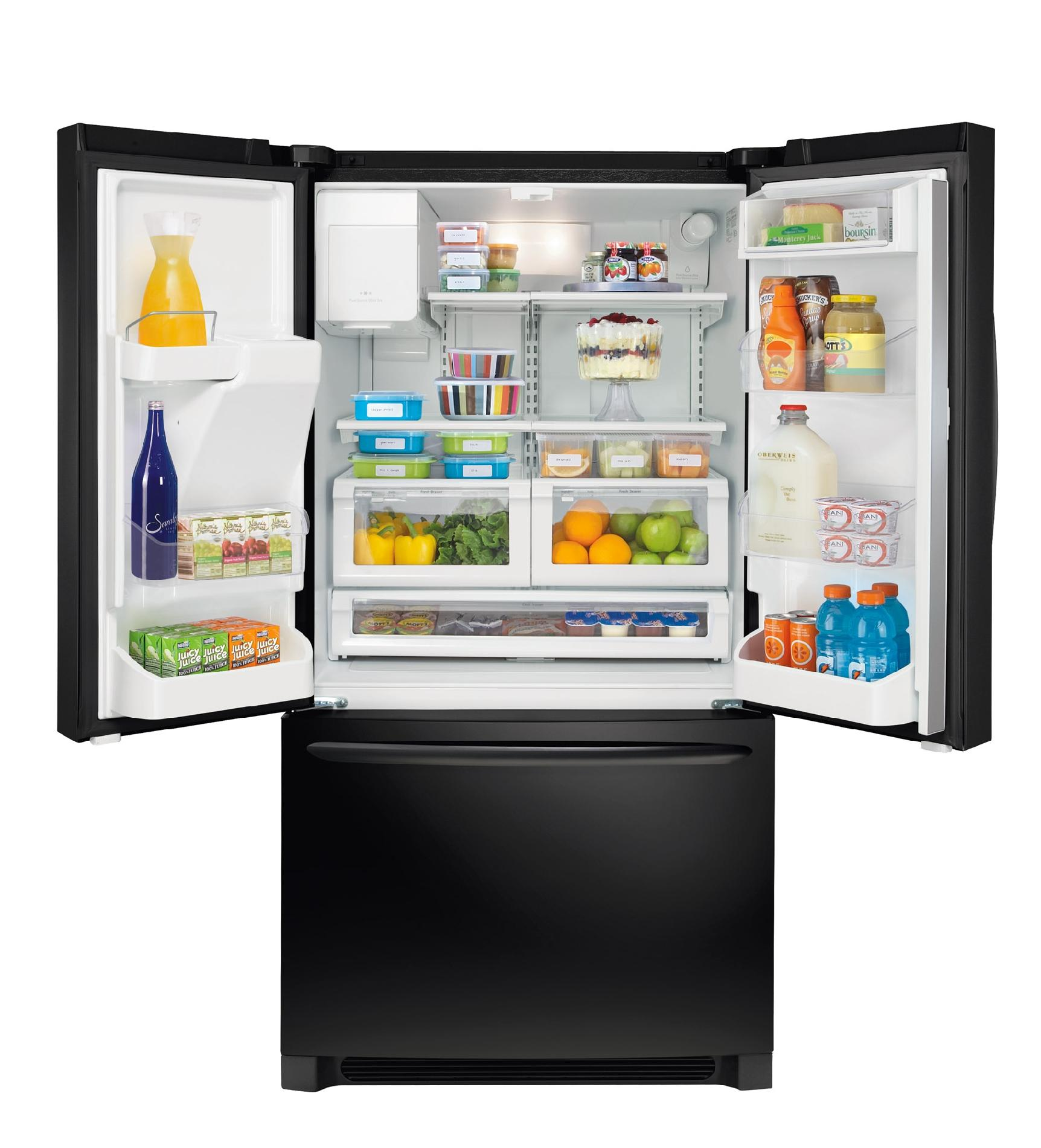 FRIGIDAIRE  26.7 cu. ft.25.8 cu. ft. French-Door Bottom-Freezer Refrigerator Blackk