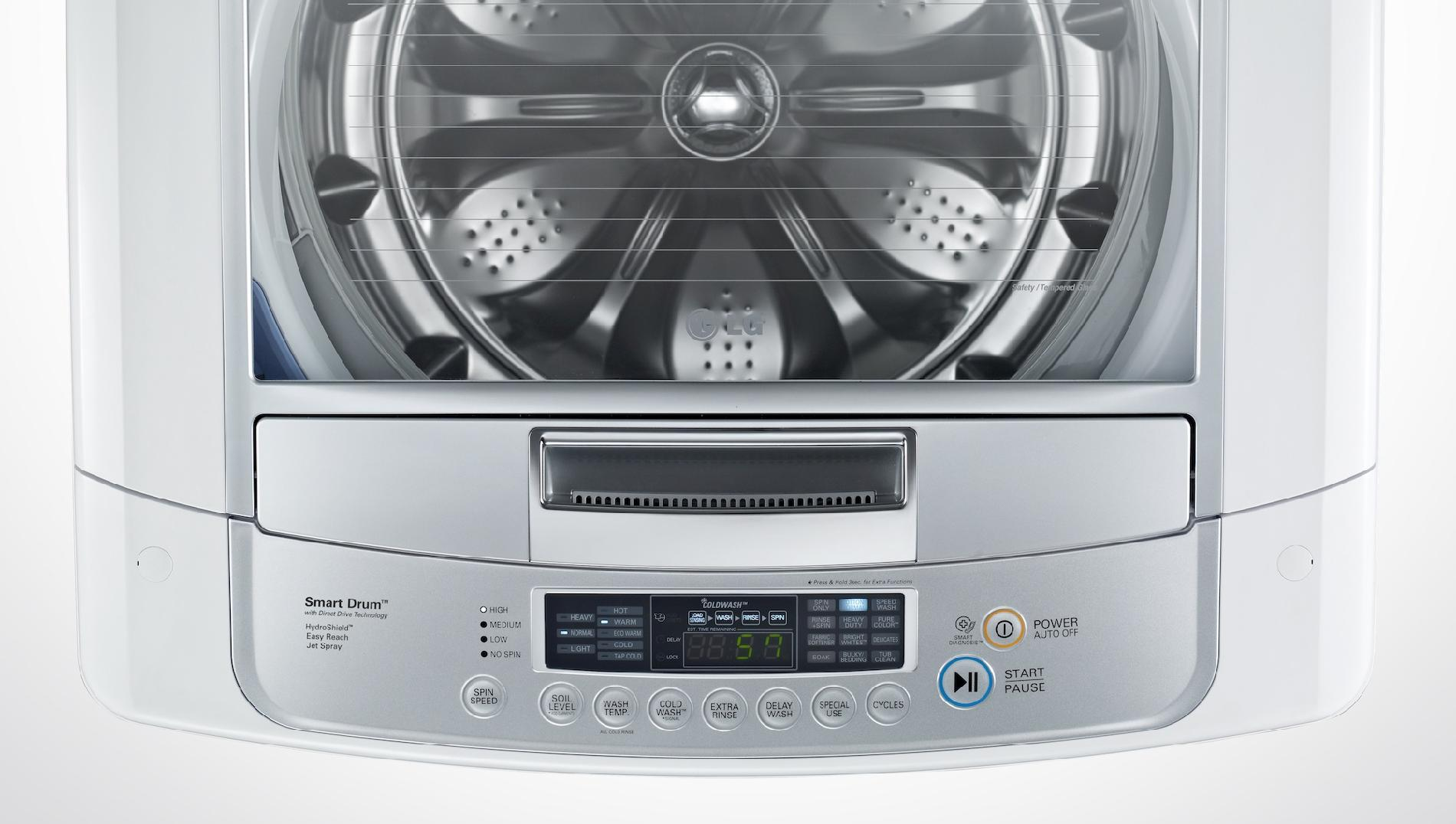 LG 4.5 cu. ft. High-Efficiency Top-Load Washer - White