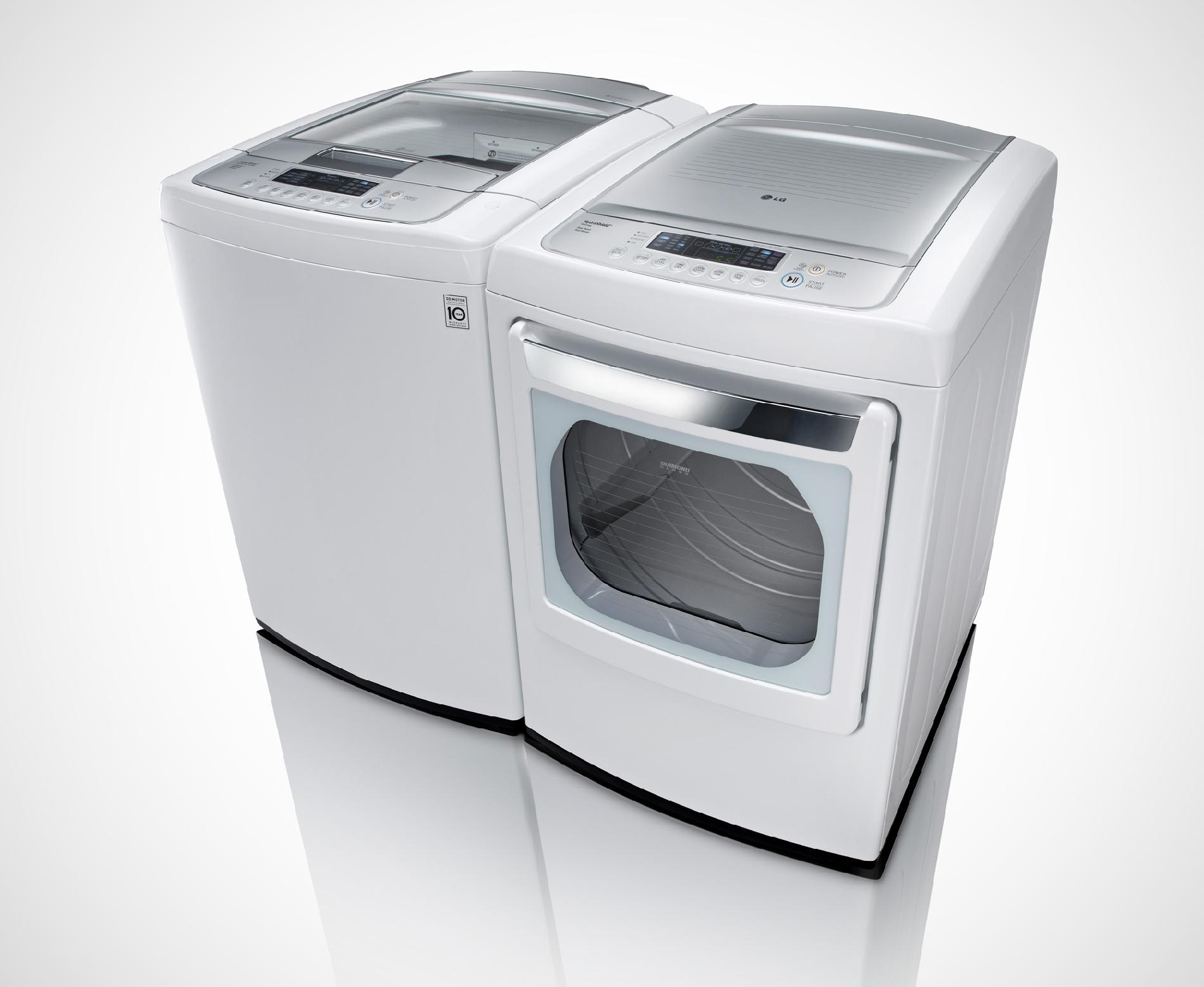 LG 4.3 cu. ft. High-Efficiency Top-Load Washer - White