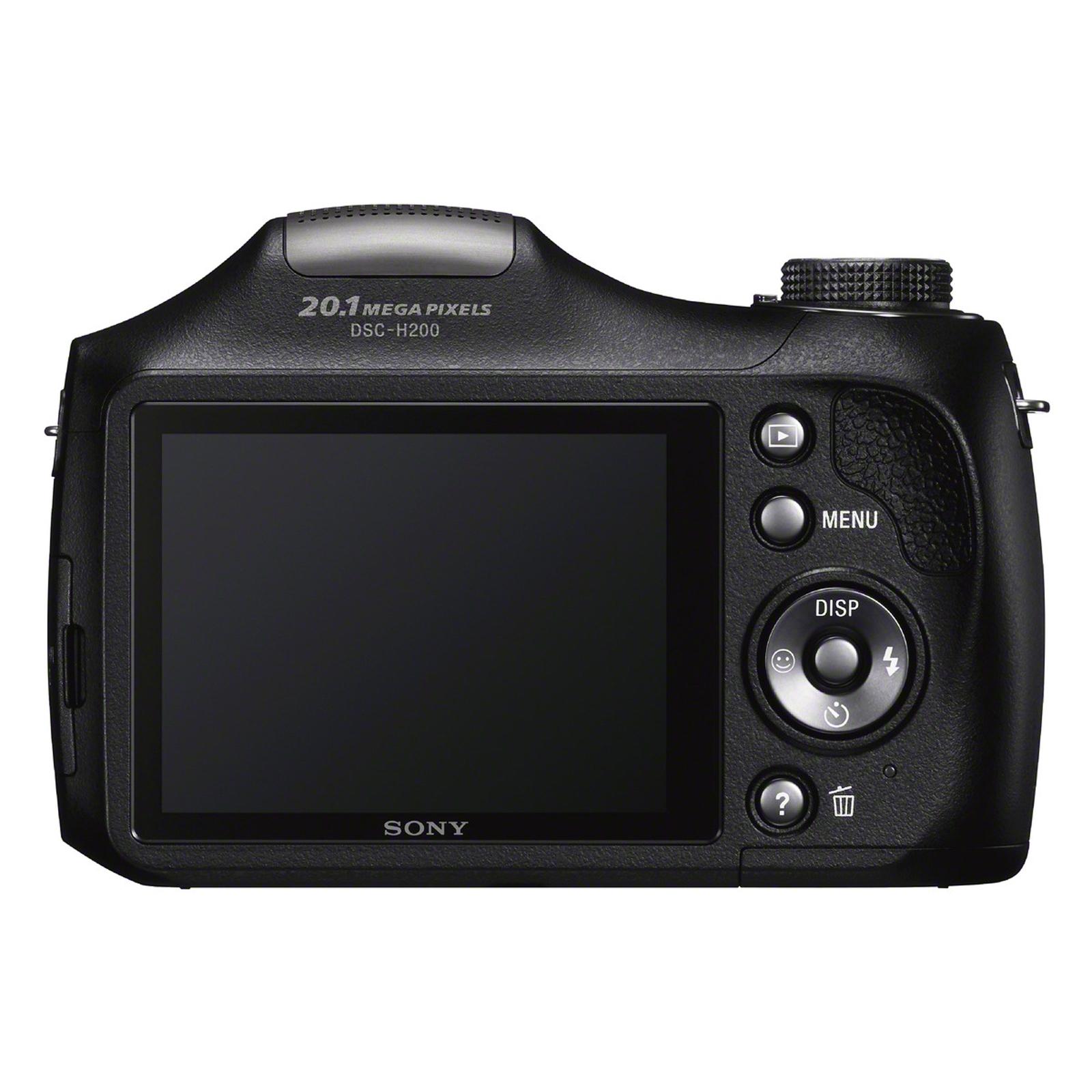 Sony High Zoom Digital Camera 20.1-Megapixel DSC-H200/B Black